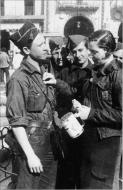 Asisbiz A young woman collecting for the Nationalist armies in Salamanca in March 1937 01