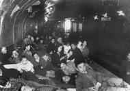 Asisbiz Families are seen taking refuge underground on a Madrid subway platform Dec 9 1936 01