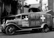 Asisbiz Riette Kahn at the wheel of an ambulance donated by the American movie industry to the Spanish government 01