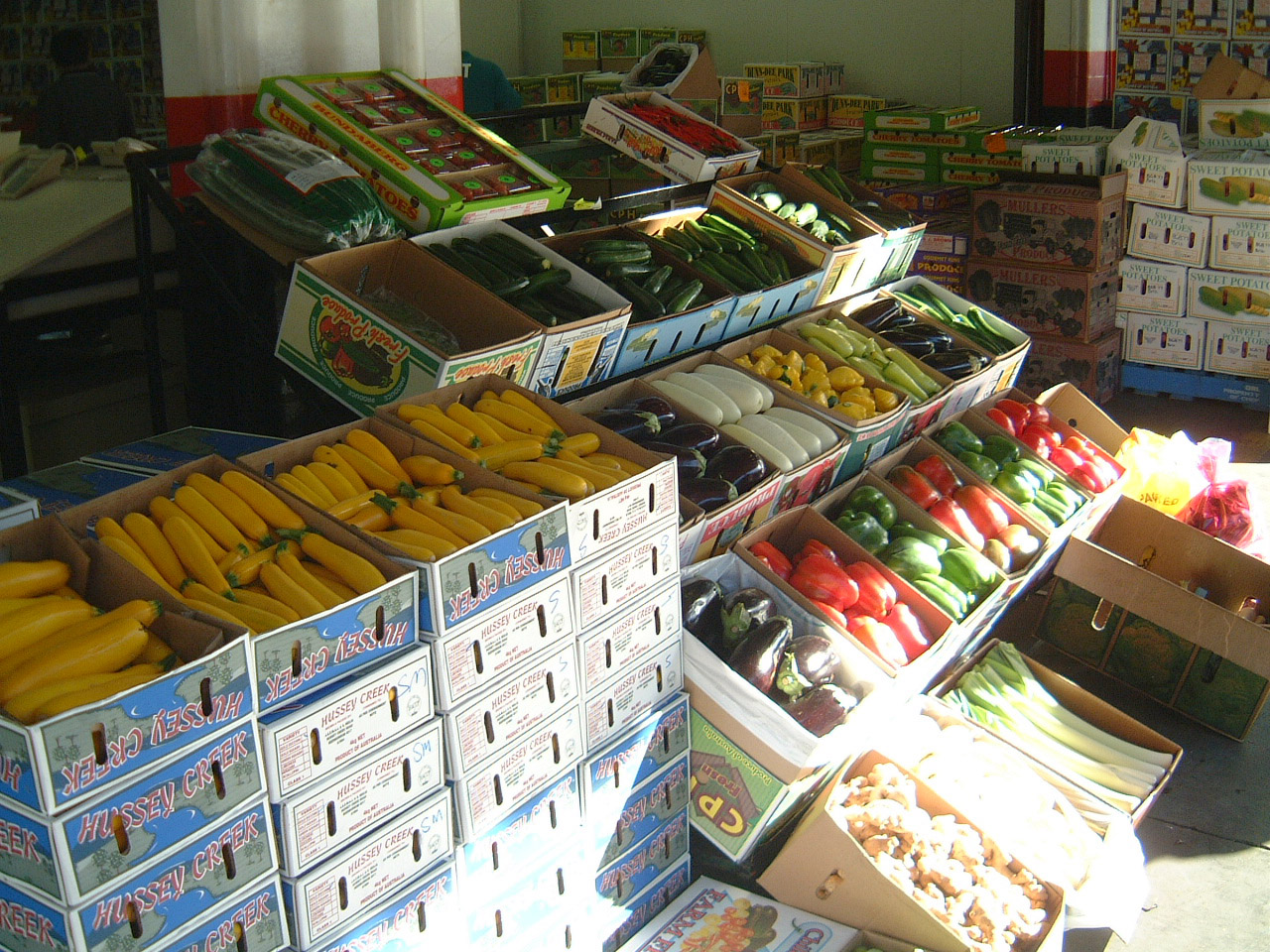 Brisbane Markets Sherwood Road Rocklea Queensland 4106 zucchini I01