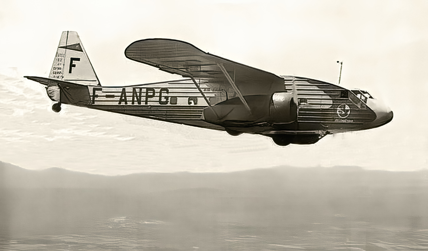Air France Potez 62 civil airliner F ANPG aerial photo France wiki 01