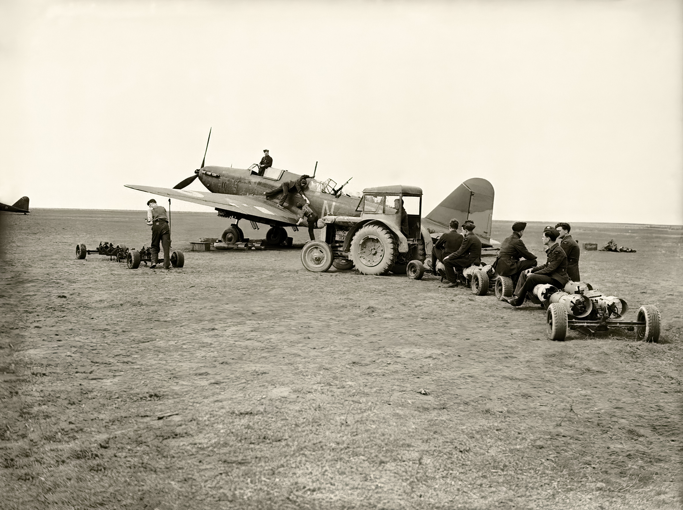 Fairey Battle being loaded at Betheniville airfield during battle of France May 1940 IWM C1071