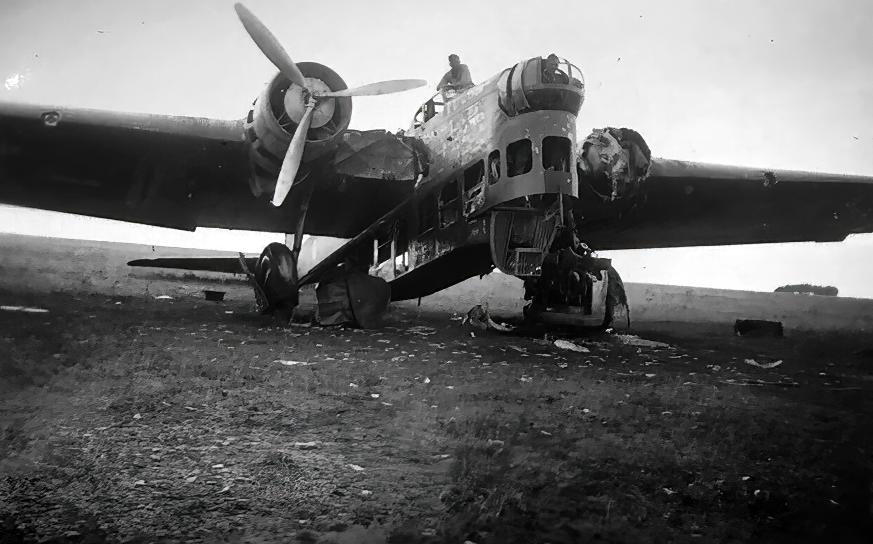French Airforce Amiot 143 destroyed whilst grounded battle of France May Jun 1940 ebay 01