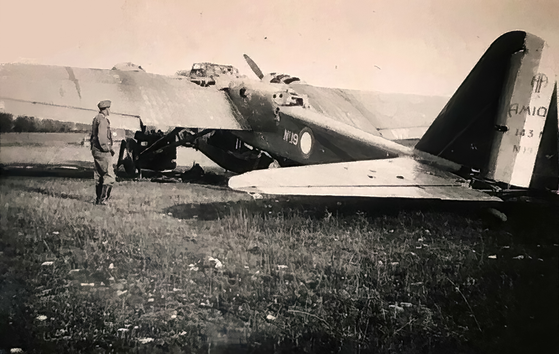 French Airforce Amiot 143 destroyed whilst grounded battle of France May Jun 1940 ebay 02