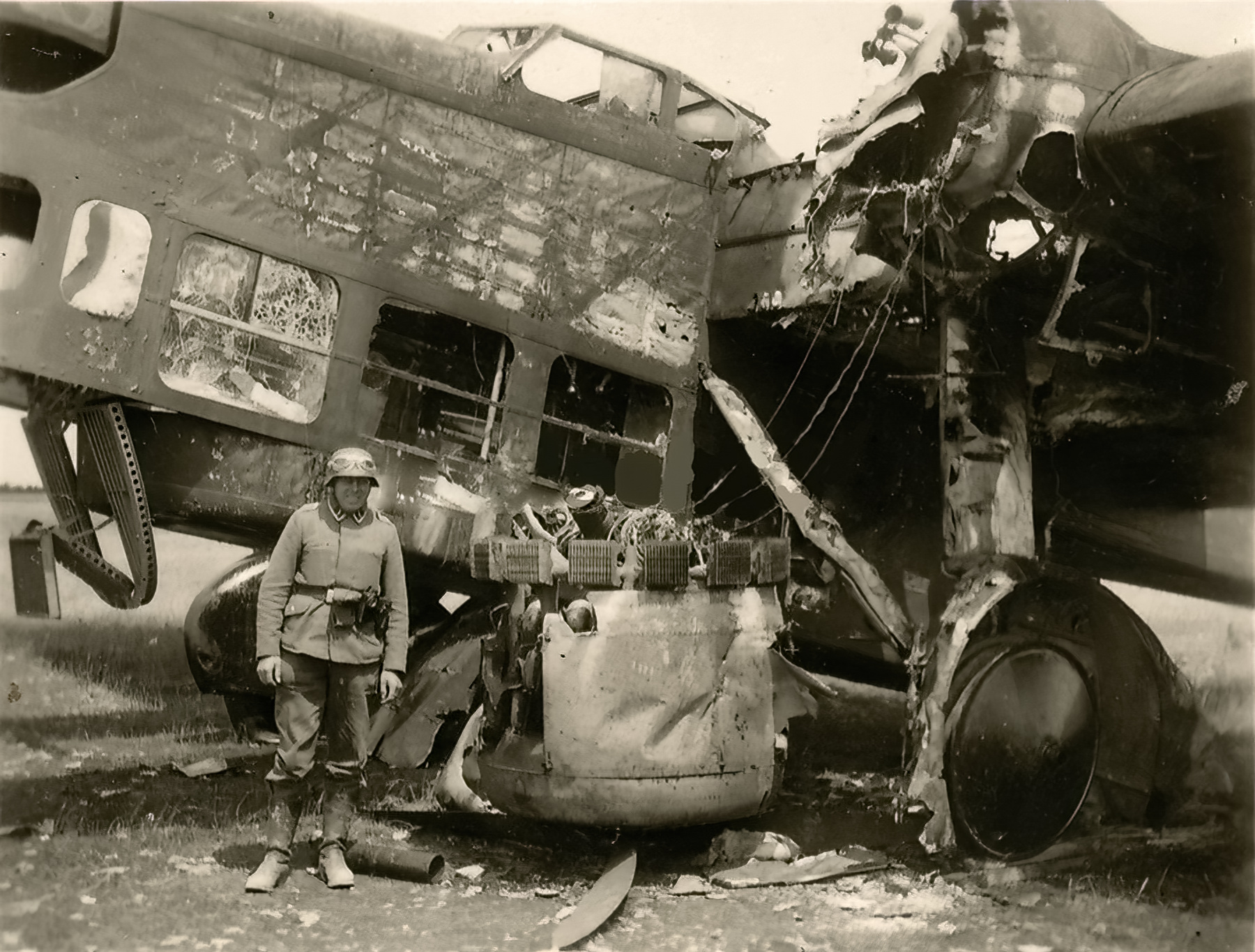 French Airforce Amiot 143 destroyed whilst grounded battle of France May Jun 1940 ebay 03