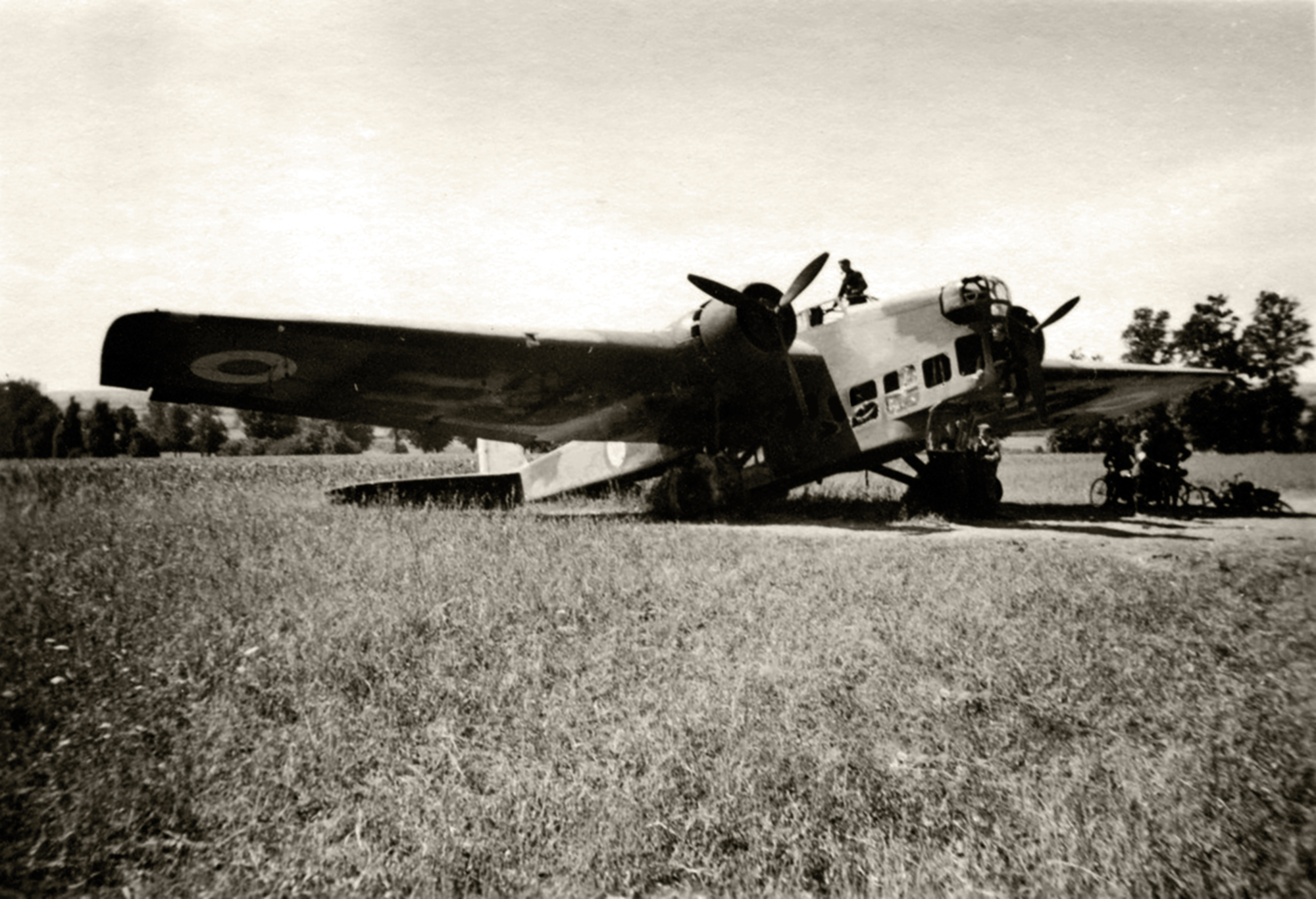 French Airforce Amiot 143 sits abandoned after the fall of France June 1940 ebay 01
