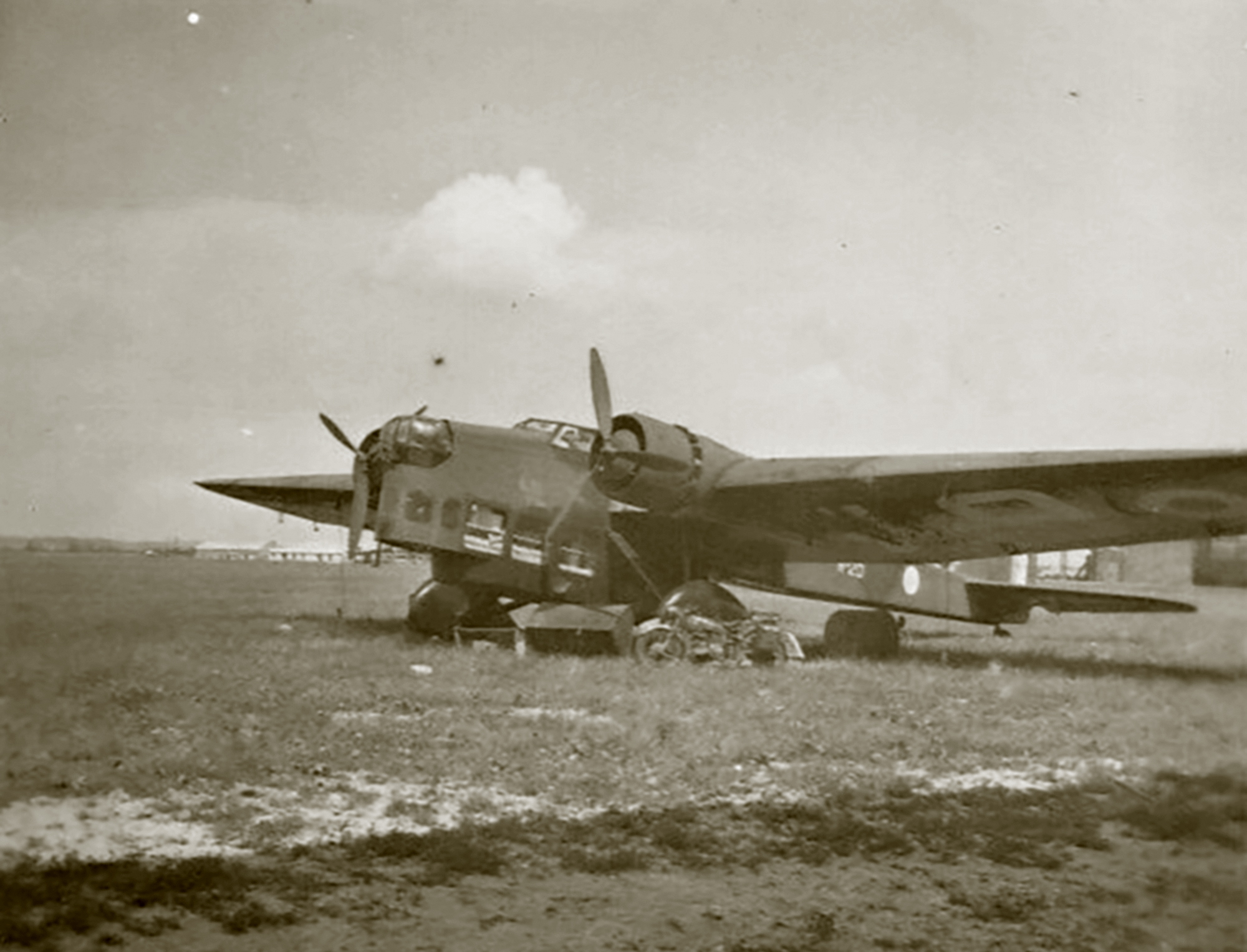 French Airforce Amiot 143 sits abandoned after the fall of France June 1940 ebay 02