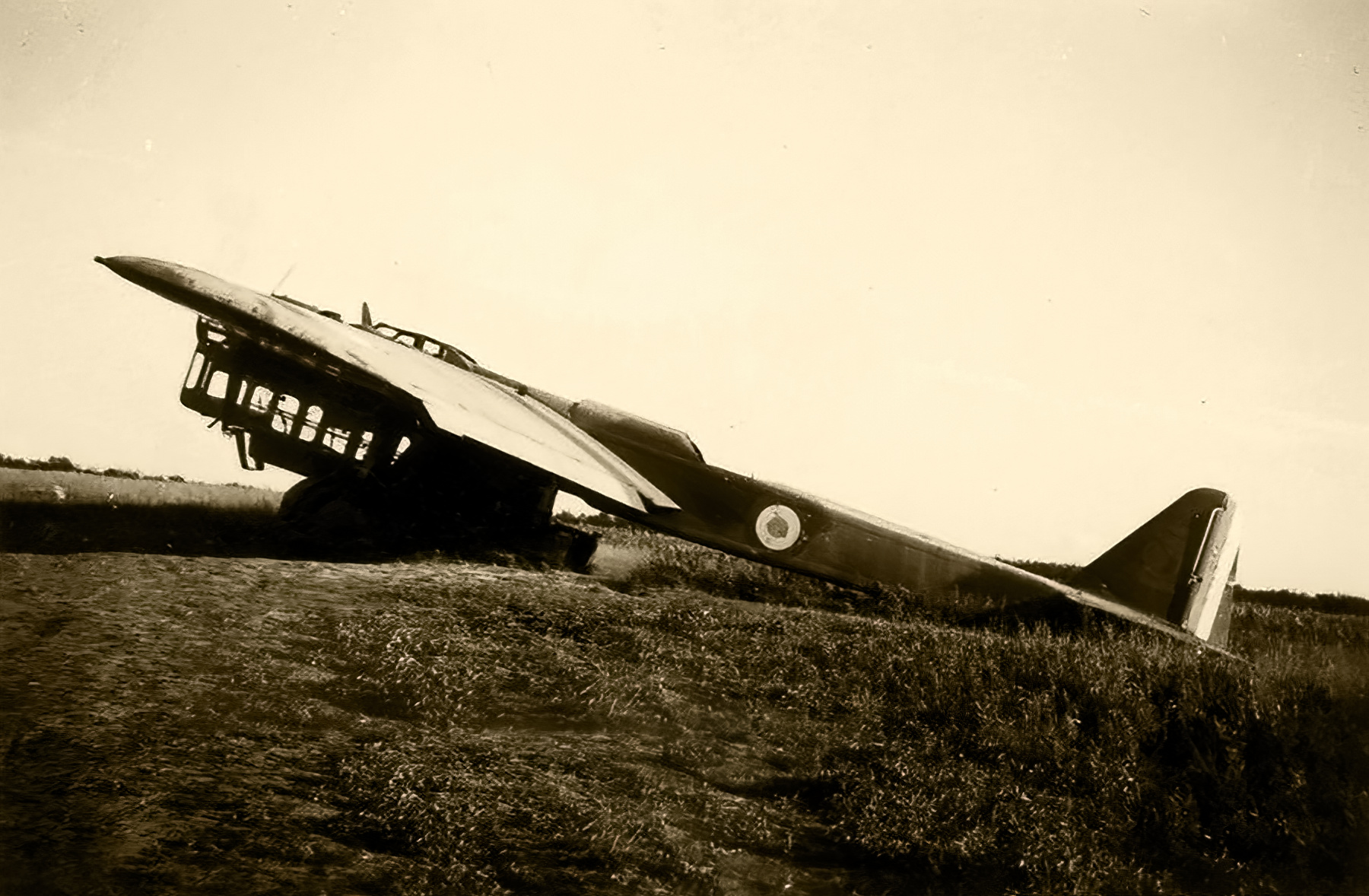 French Airforce Amiot 143 sits abandoned after the fall of France June 1940 ebay 03