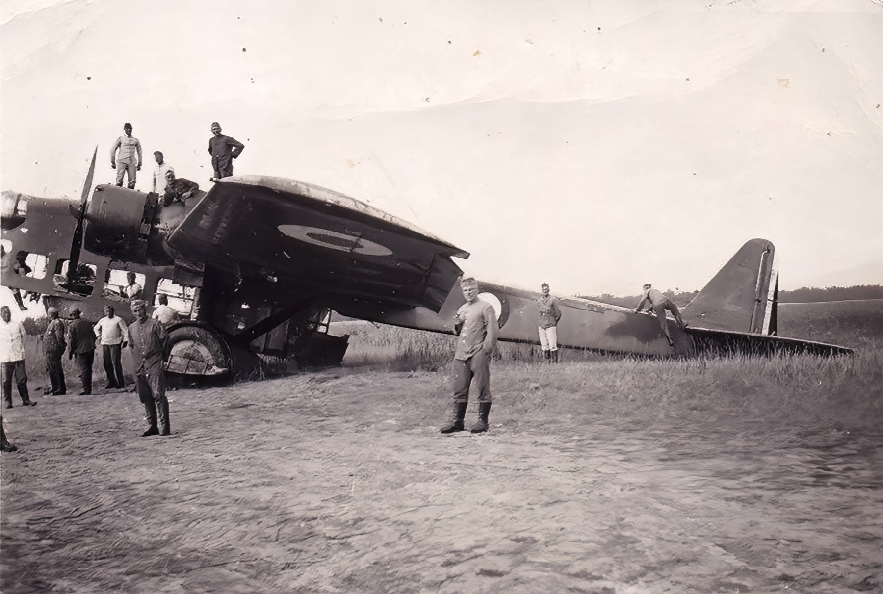 French Airforce Amiot 143 sits abandoned after the fall of France June 1940 ebay 04
