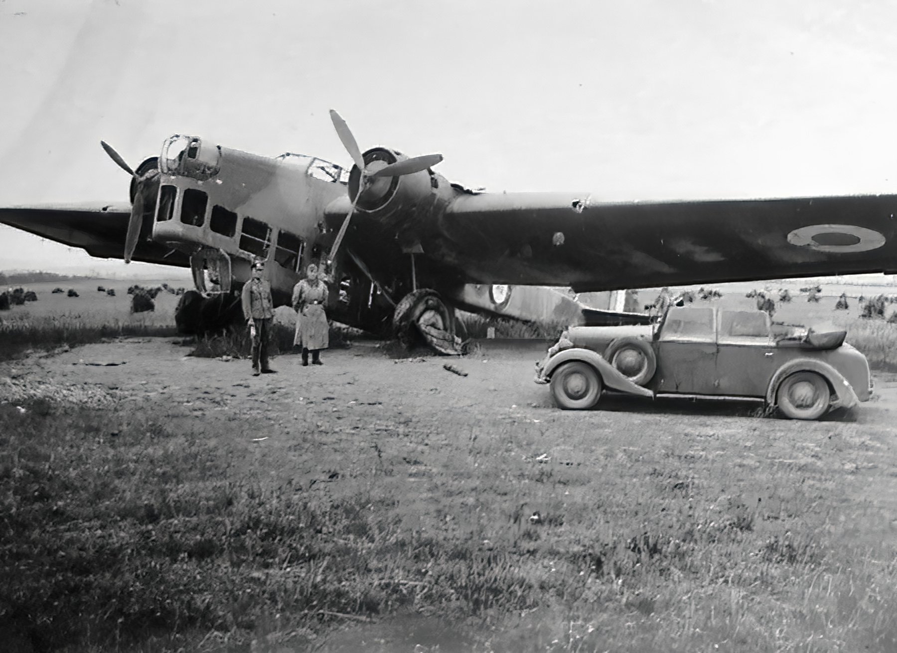 French Airforce Amiot 143 sits abandoned after the fall of France June 1940 ebay 05