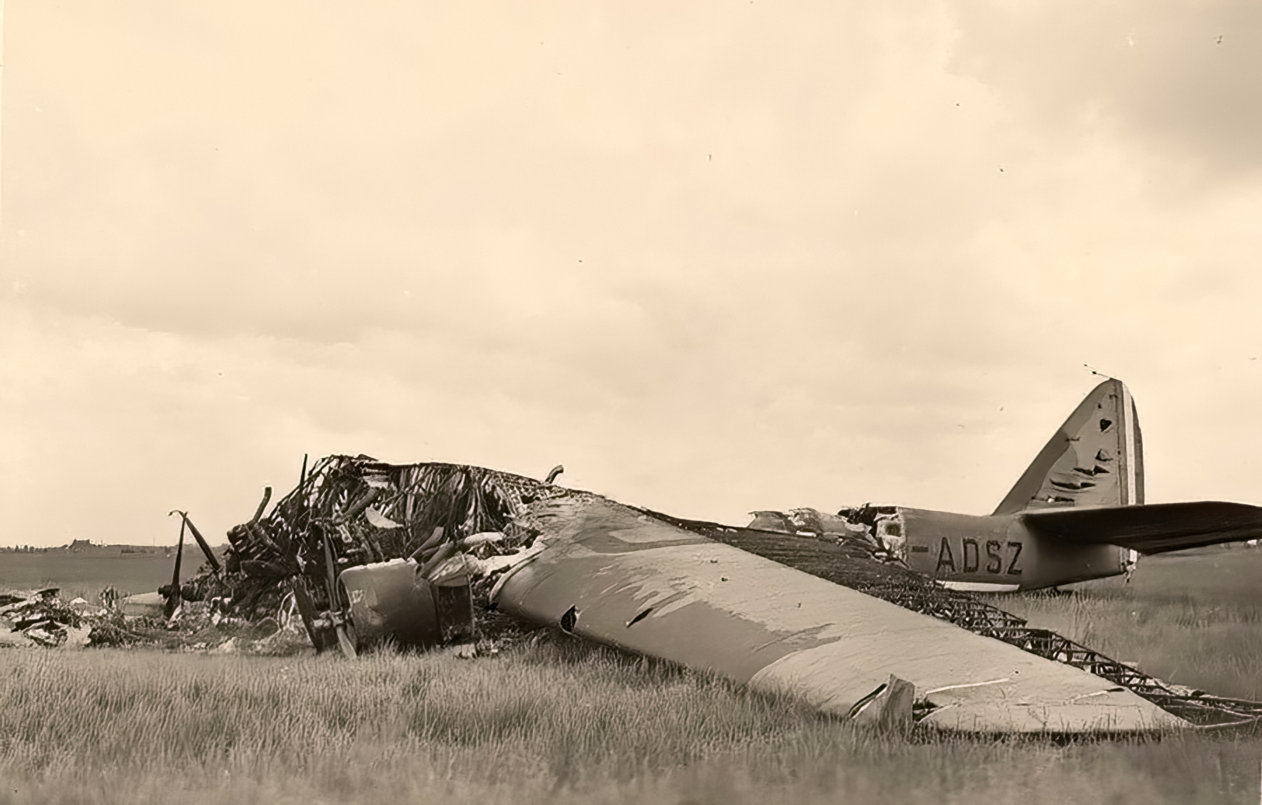 French Airforce Armstrong Whitworth Ensign G ADSZ destroyed at Merville 23rd May 1940 ebay 01
