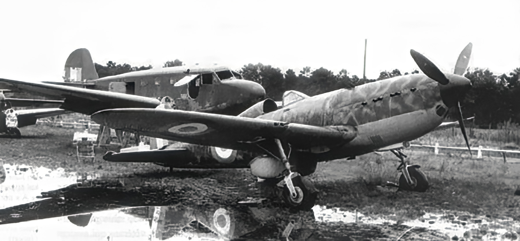 French Airforce Arsenal VG 33 sits abandoned after the fall of France June 1940 ebay 01
