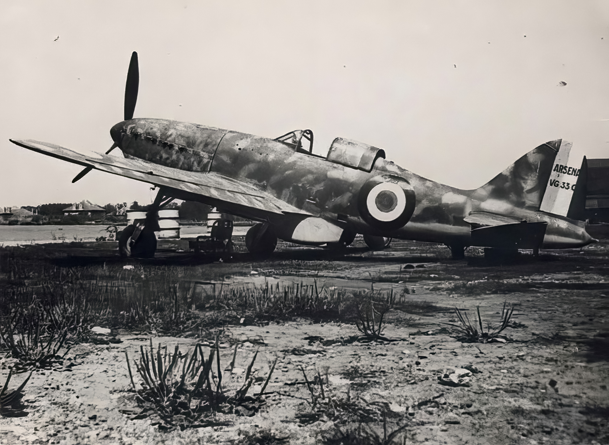 French Airforce Arsenal VG 33 sits abandoned after the fall of France June 1940 ebay 06