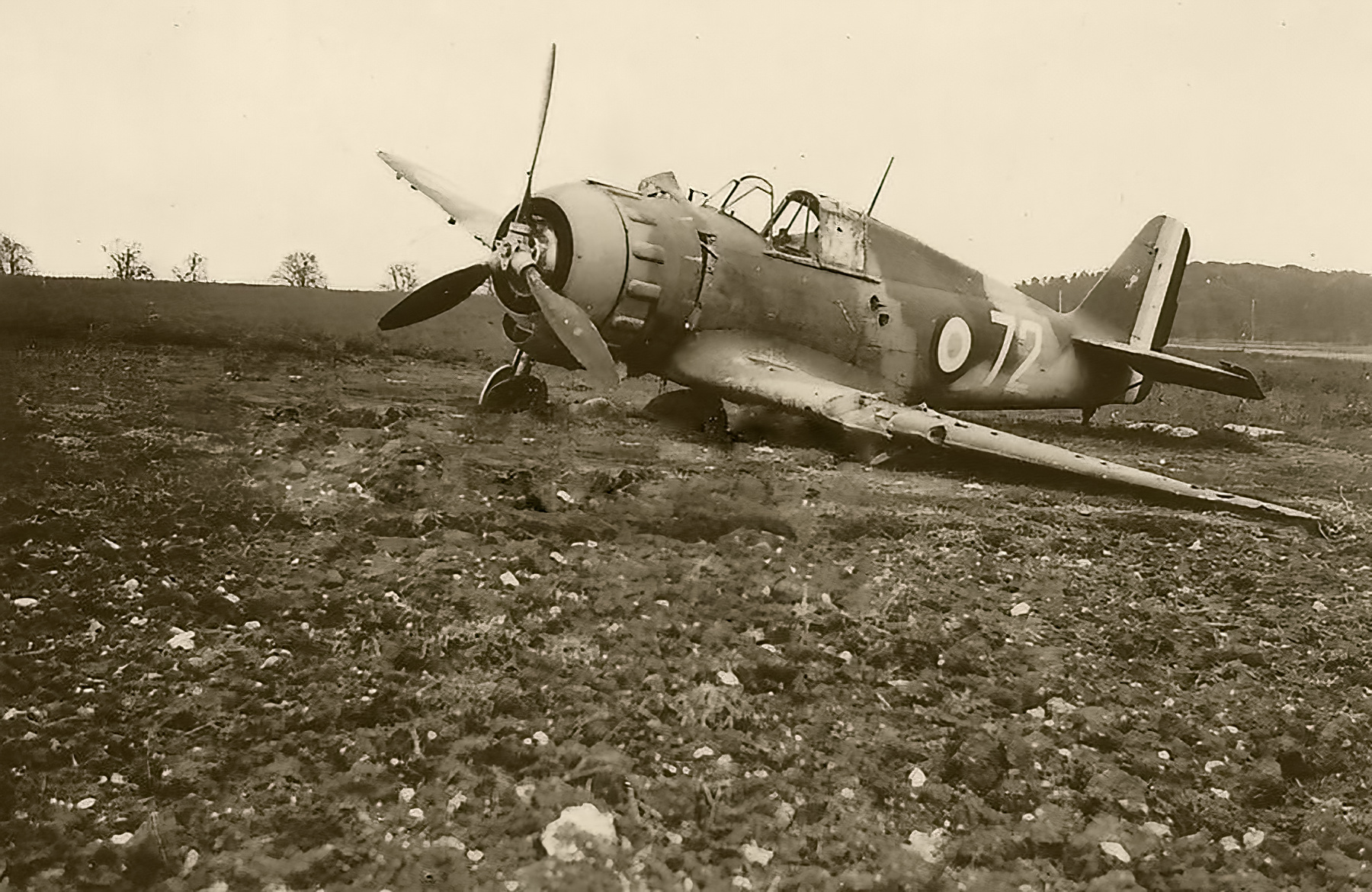 French Airforce Bloch MB 152 GCII.9 White 72 destroyed whilst on the ground battle of France May Jun 1940 01