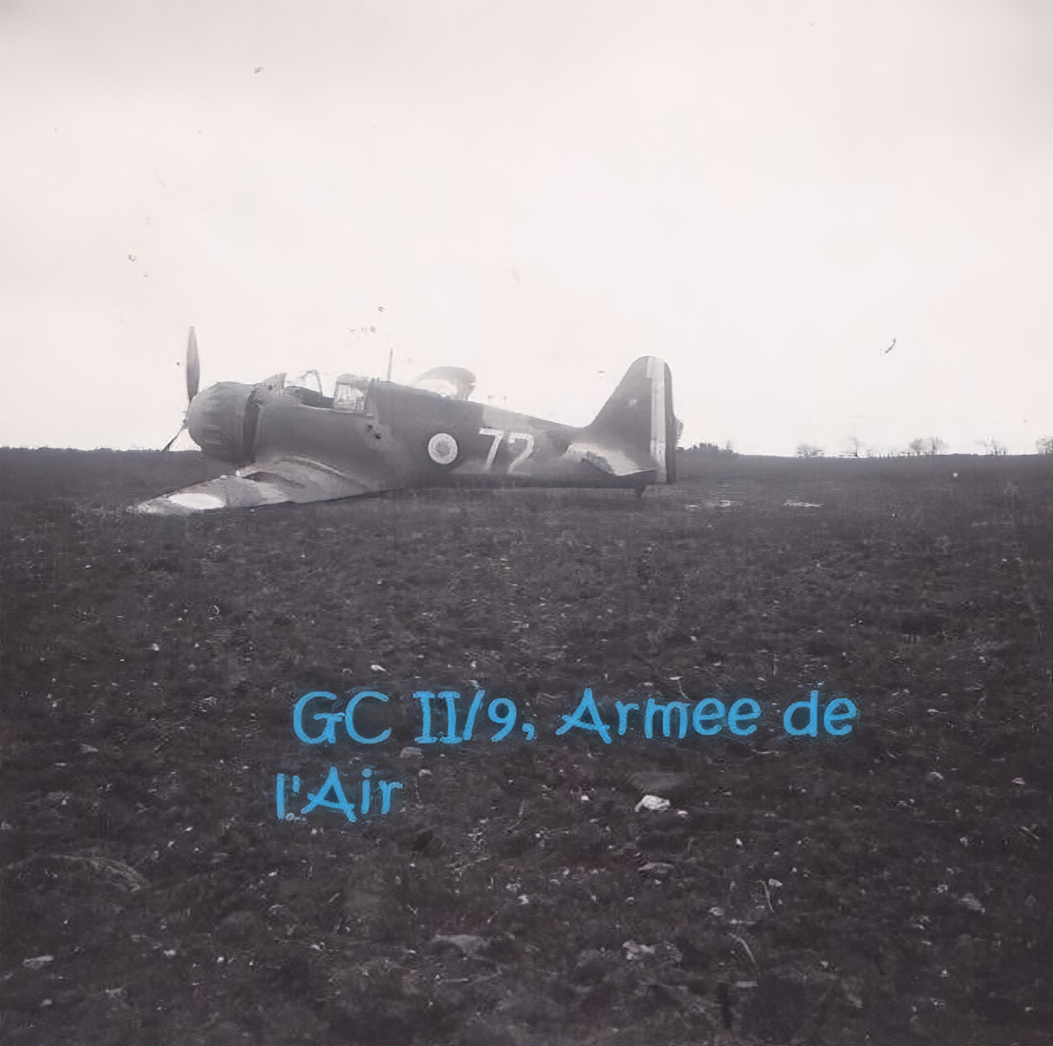 French Airforce Bloch MB 152 GCII.9 White 72 destroyed whilst on the ground battle of France May Jun 1940 02