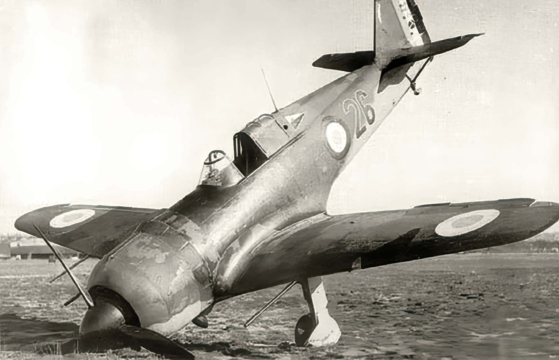 French Airforce Bloch MB 152 Red 26 landing mishap Battle of France May 1940 ebay 01
