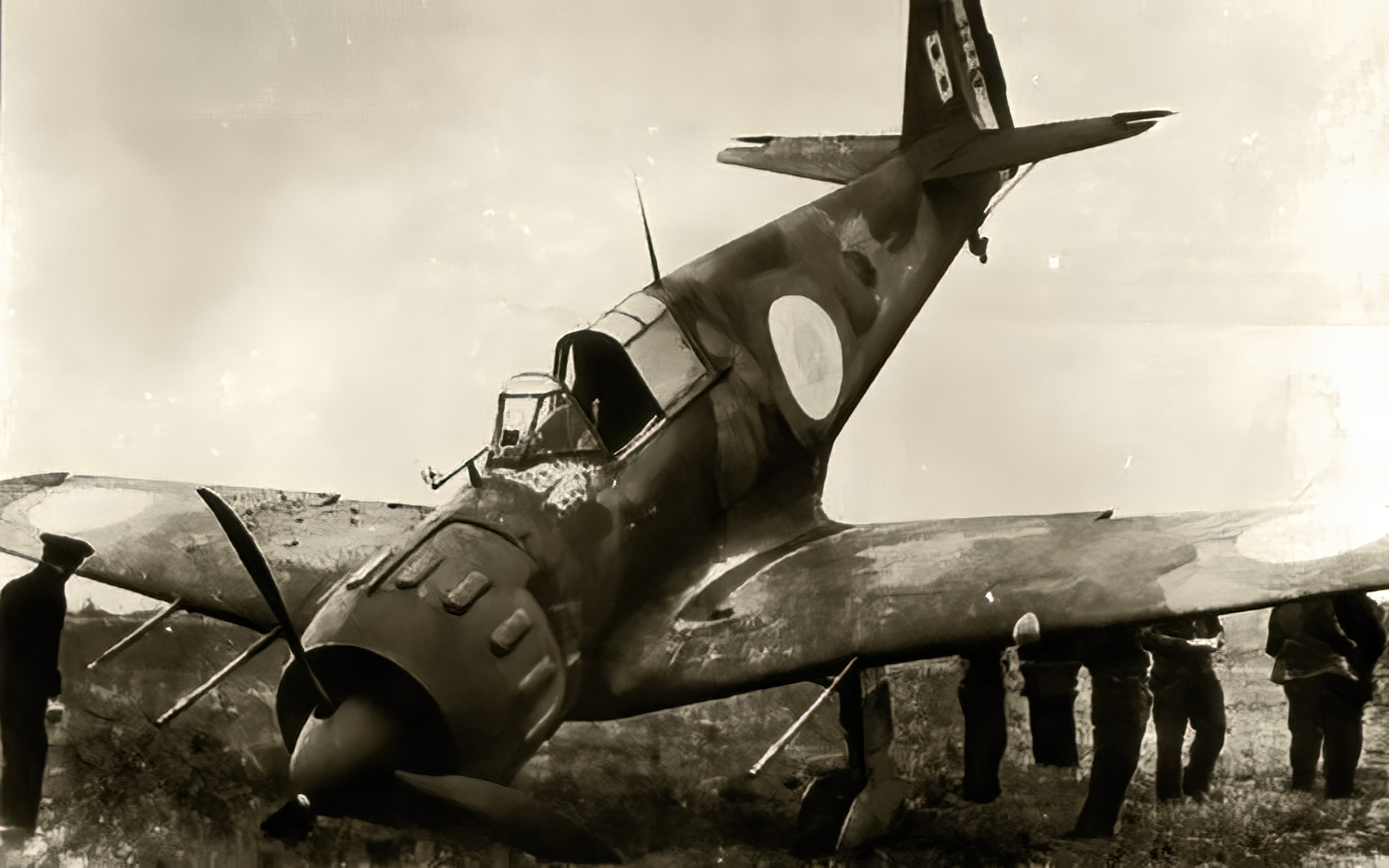 French Airforce Bloch MB 152 White 8 landing mishap Battle of France May 1940 ebay 01