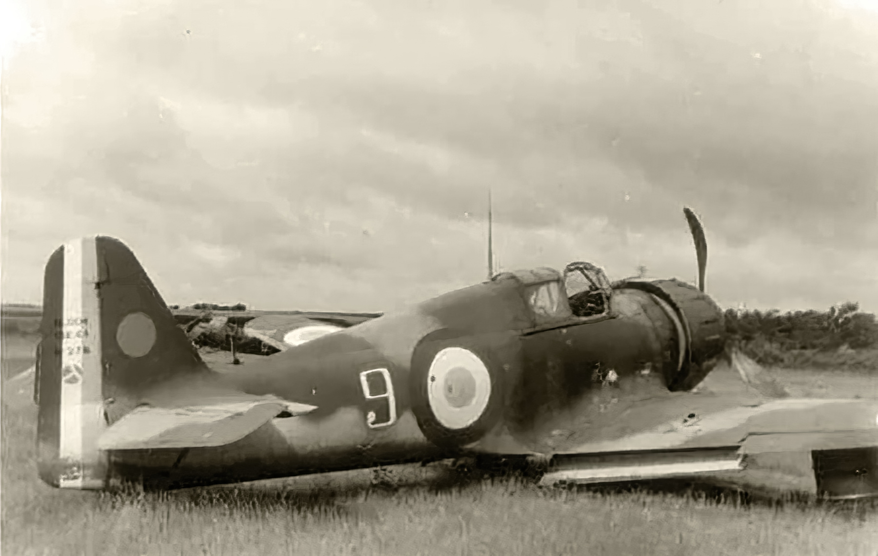 French Airforce Bloch MB 152 White 9 force landed battle of France 1940 web 01