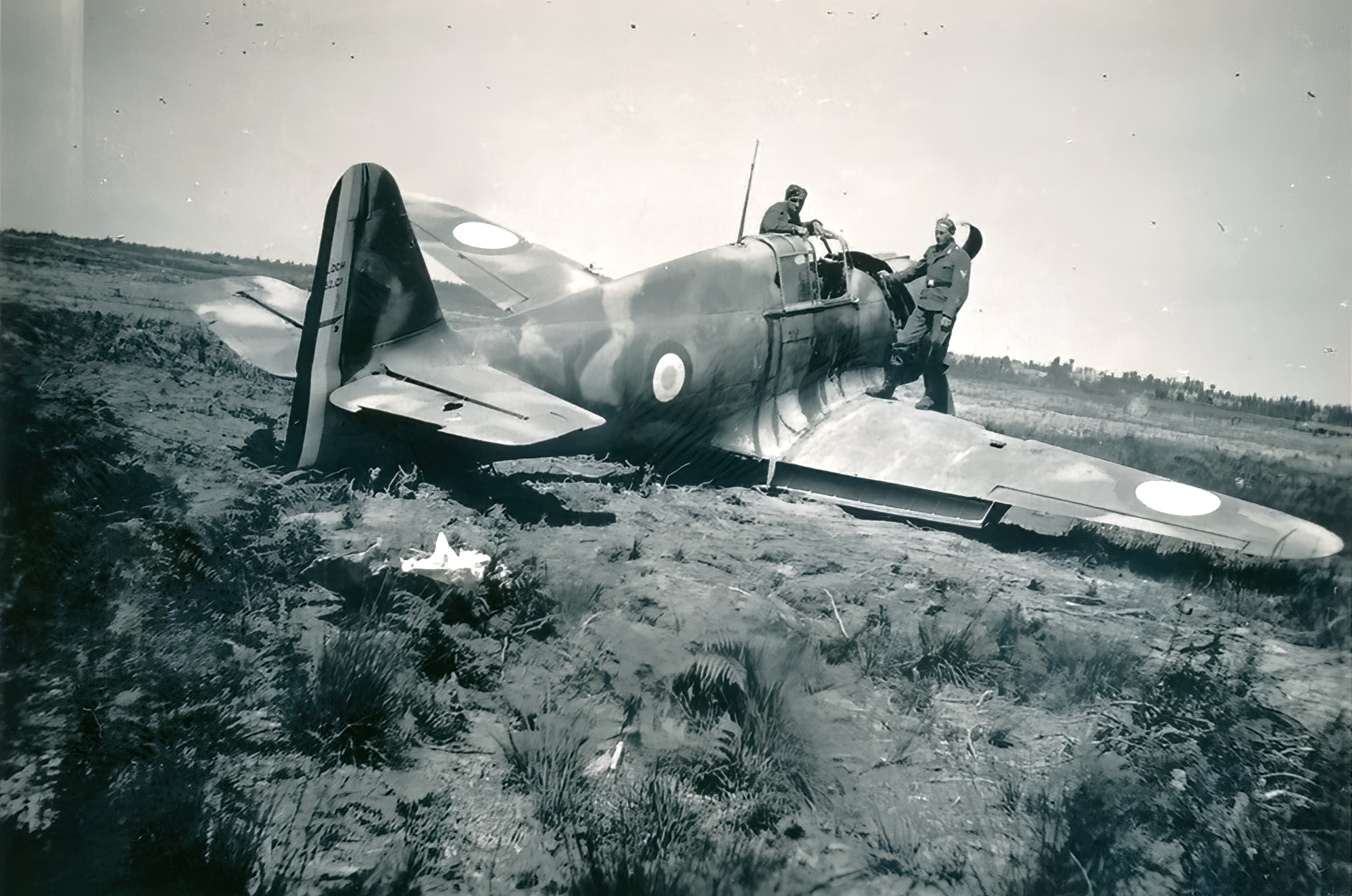French Airforce Bloch MB 152C1 after force landing battle of France May Jun 1940 ebay 01