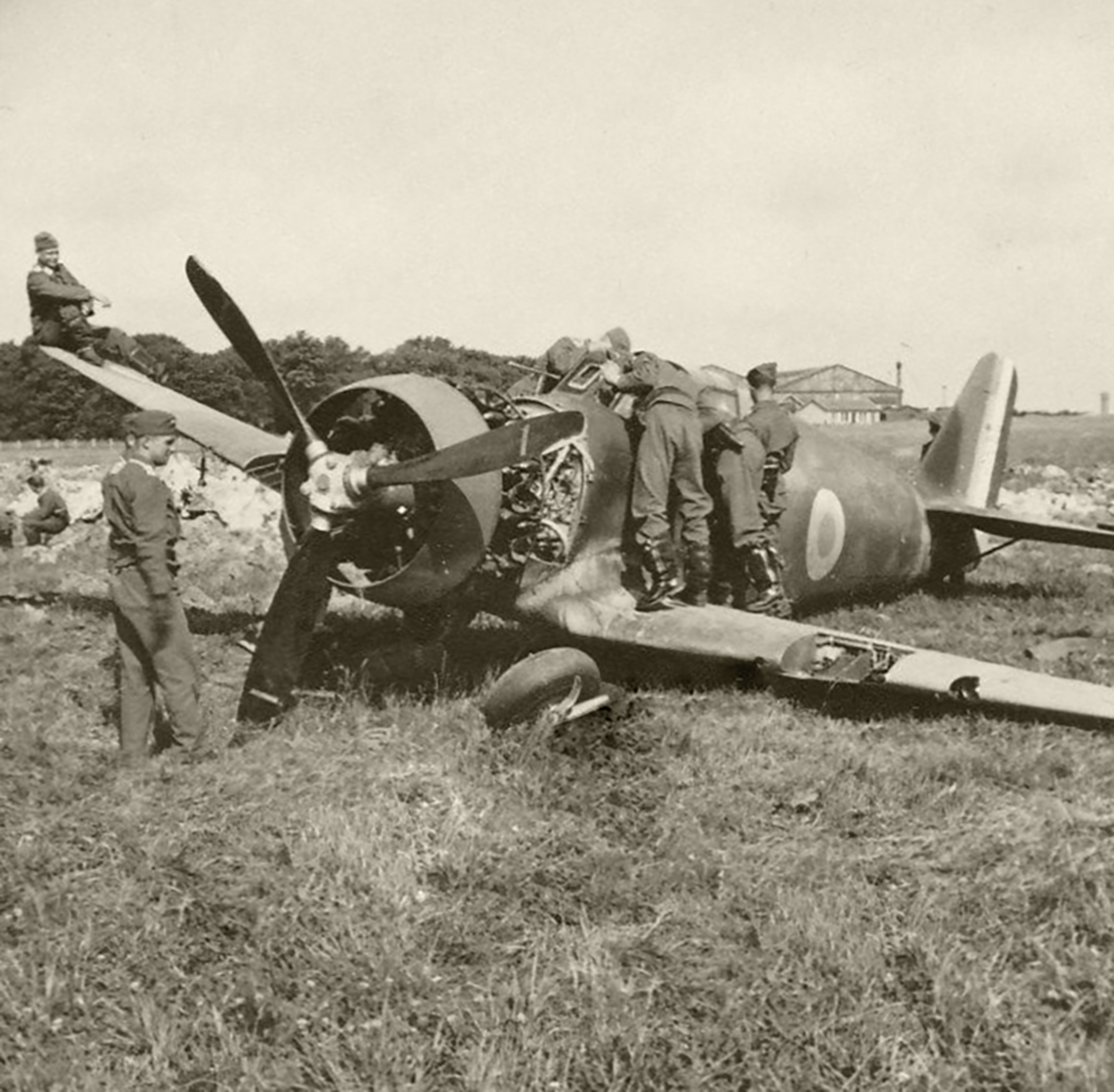 French Airforce Bloch MB 152C1 ground looped during the battle of France May Jun 1940 ebay 01