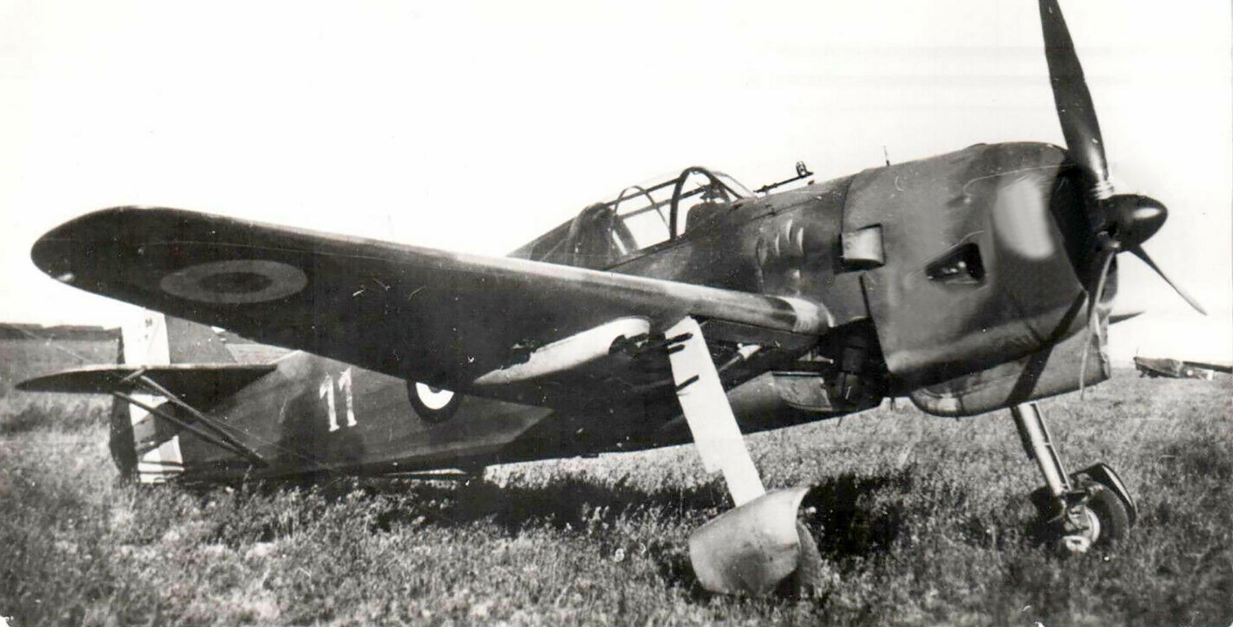 French Airforce Bloch MB 155 White 11 powered by Gnome Rhone 14N 49 engine France 1940 01