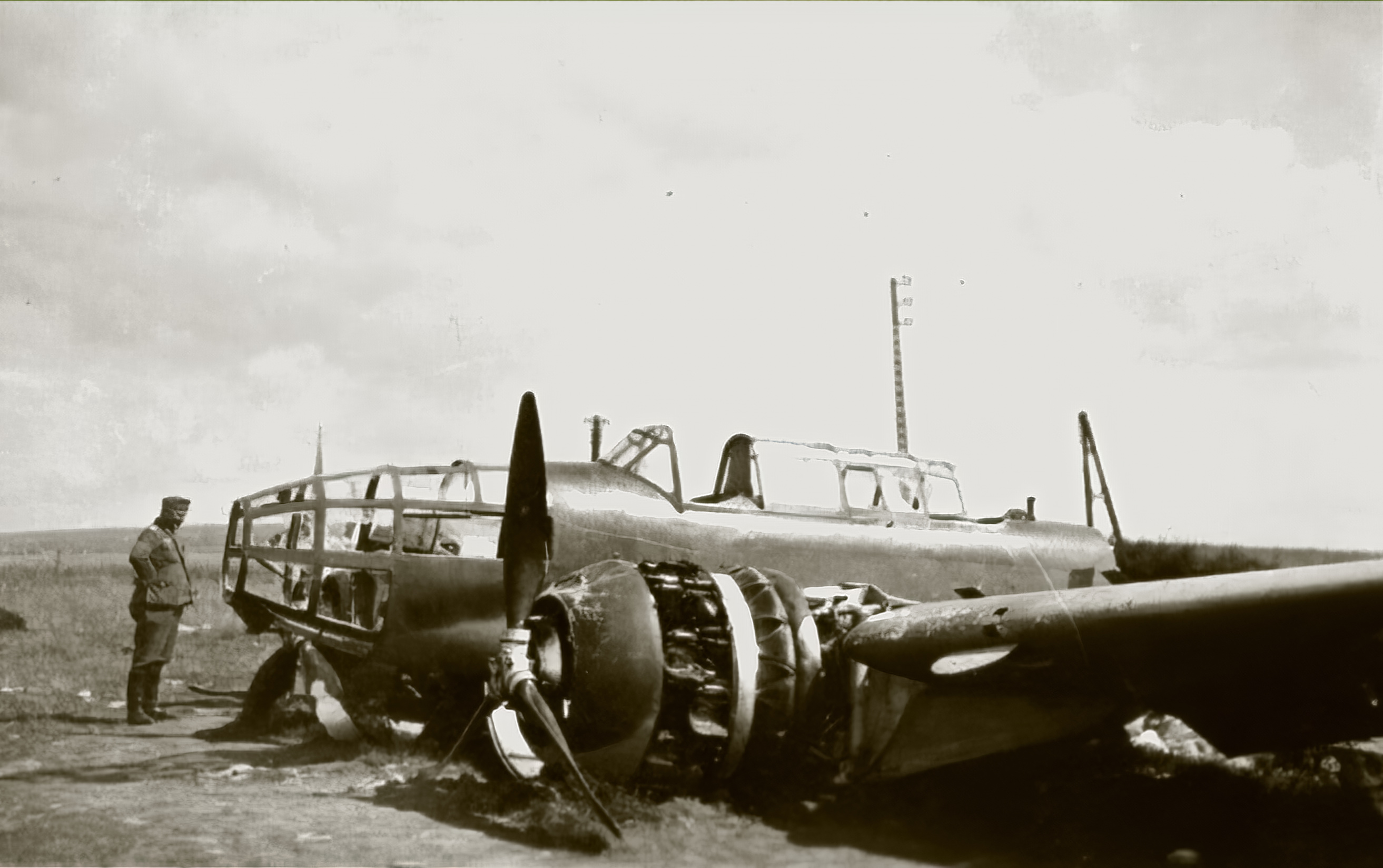 French Airforce Bloch MB 174 force landed France 1940 ebay 01