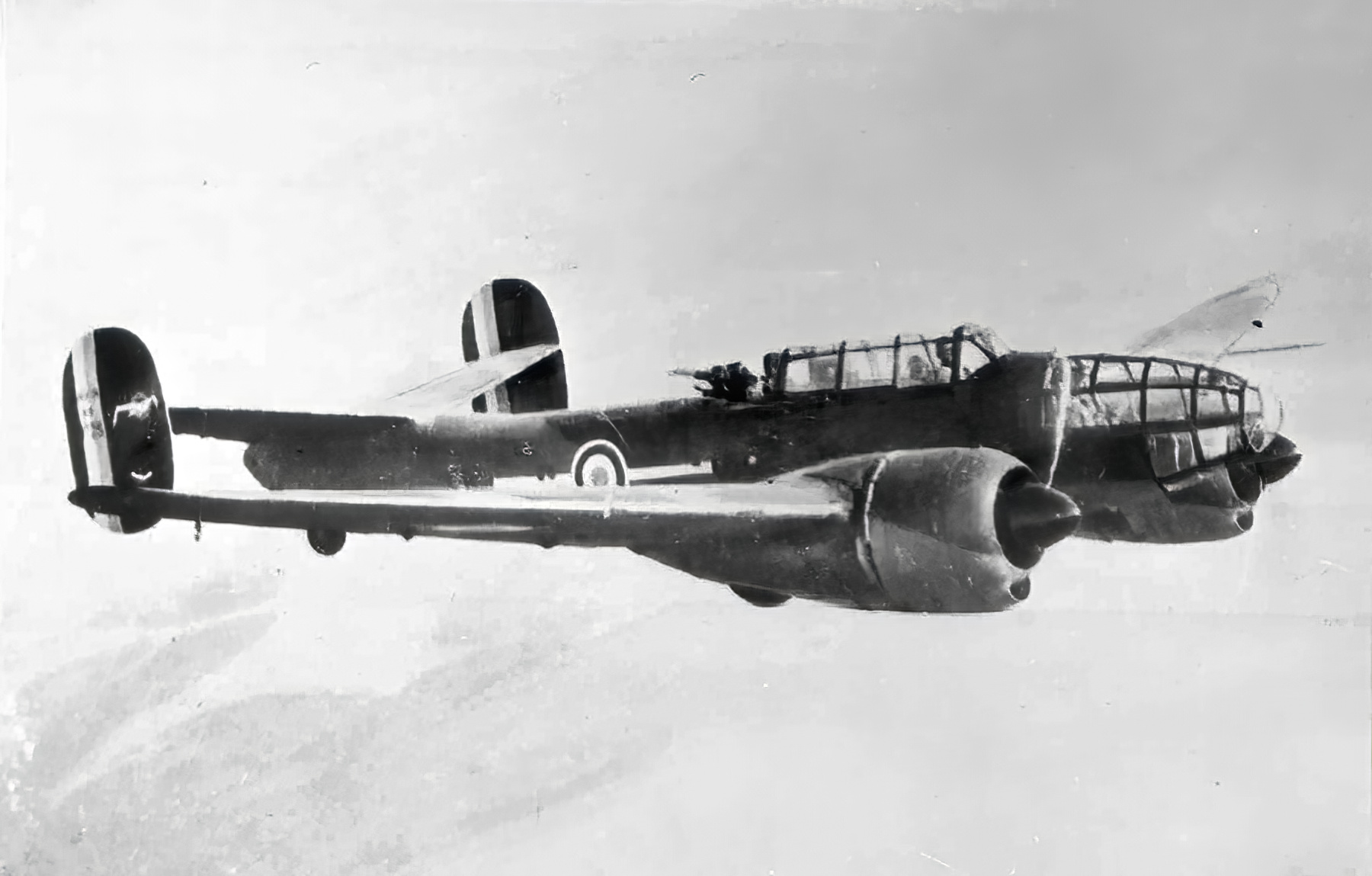 French Airforce Bloch MB 174 inflight over France 1940 ebay 01