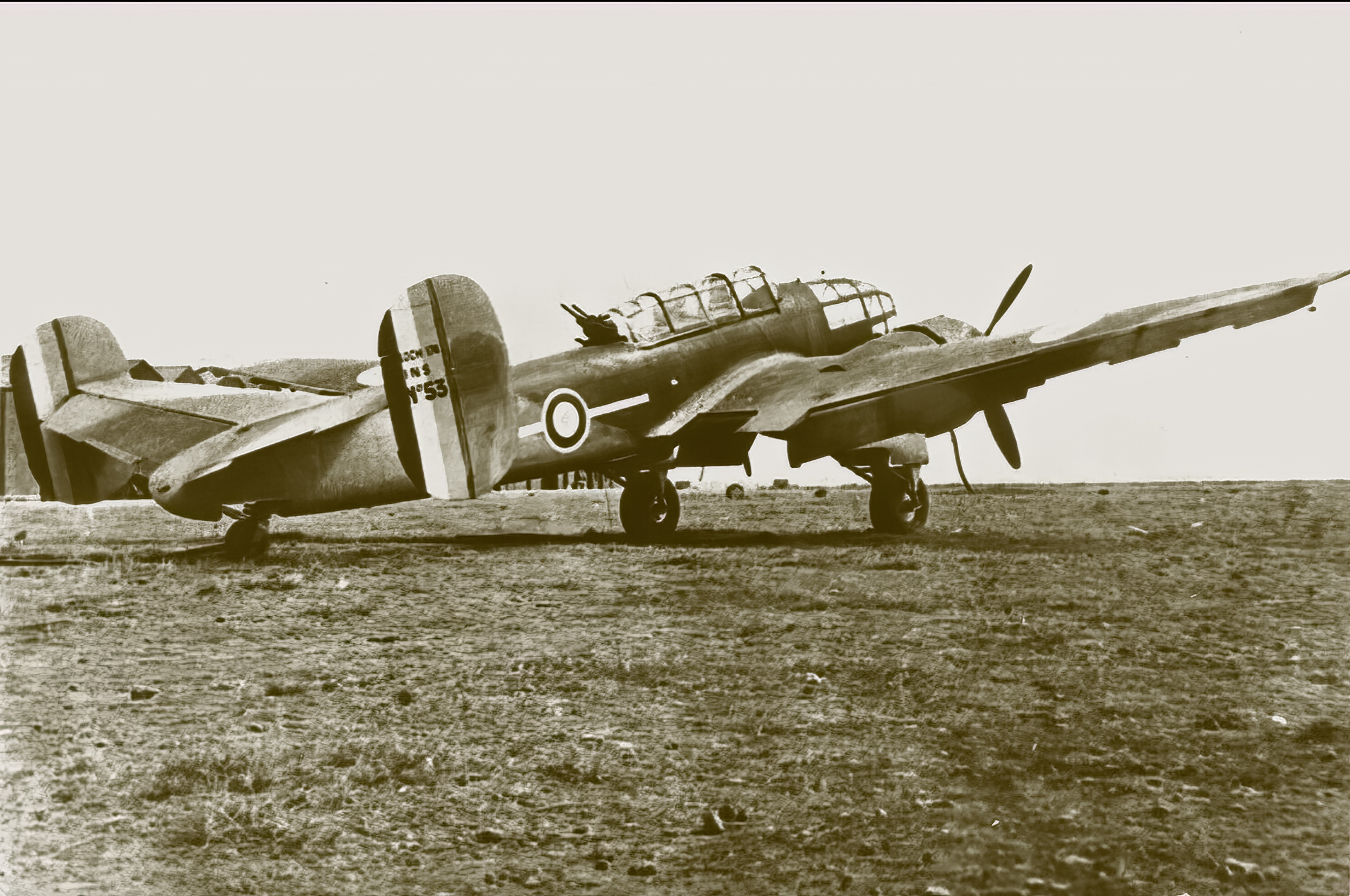 French Airforce Bloch MB 174 sn53 awaits deployment France ebay 01