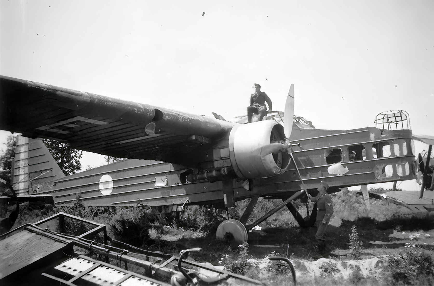 French Airforce Bloch MB 200 destroyed whilst on the ground battle of France May Jun 1940 ebay 01
