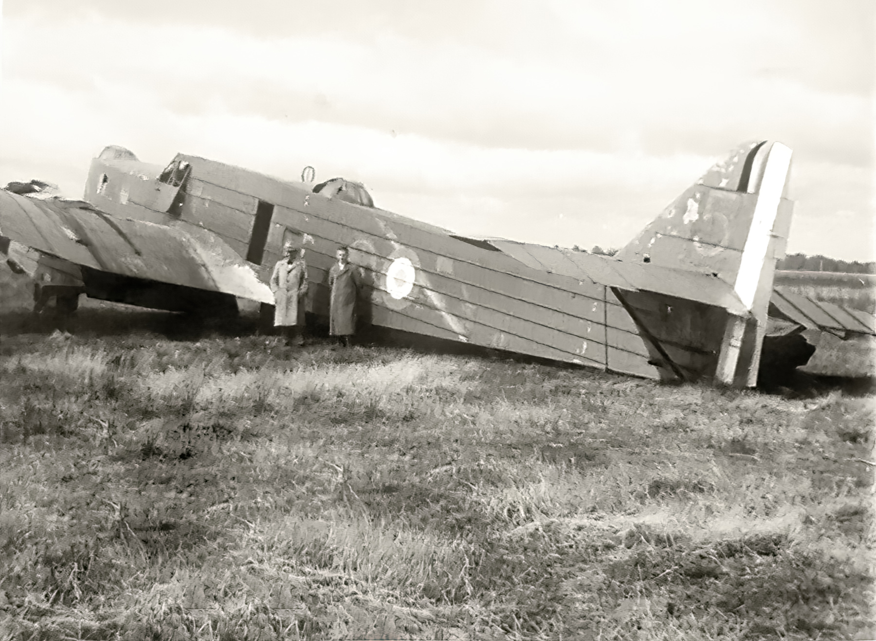 French Airforce Bloch MB 210 Blue 5 sits abandoned after the fall of France Jun 1940 ebay 01