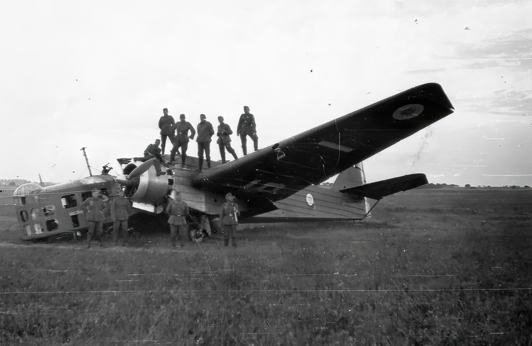 French Airforce Bloch MB 210 destroyed whilst grounded battle of France May Jun 1940 ebay 01