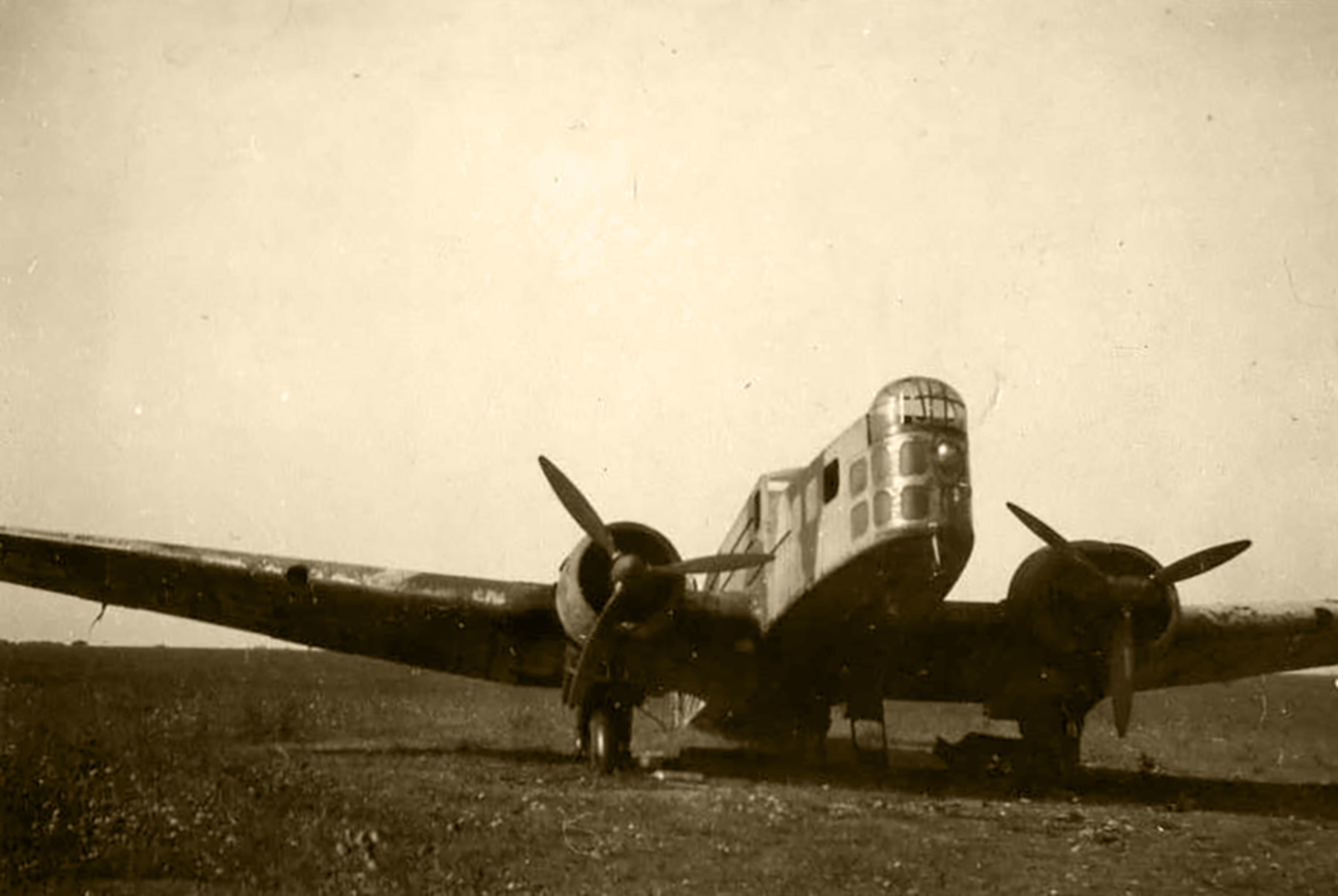 French Airforce Bloch MB 210 sits abandoned after the fall of France June 1940 ebay 01