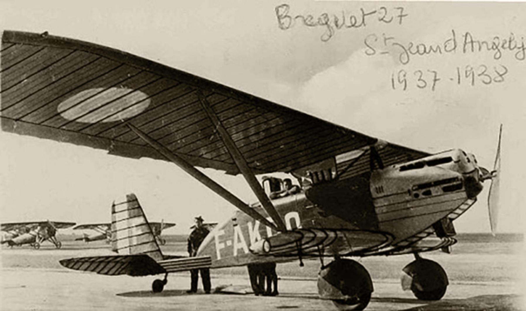 French Airforce Breguet 270 F AKDQ at Saint Jean Pied de Port France 1937 38 ebay 01