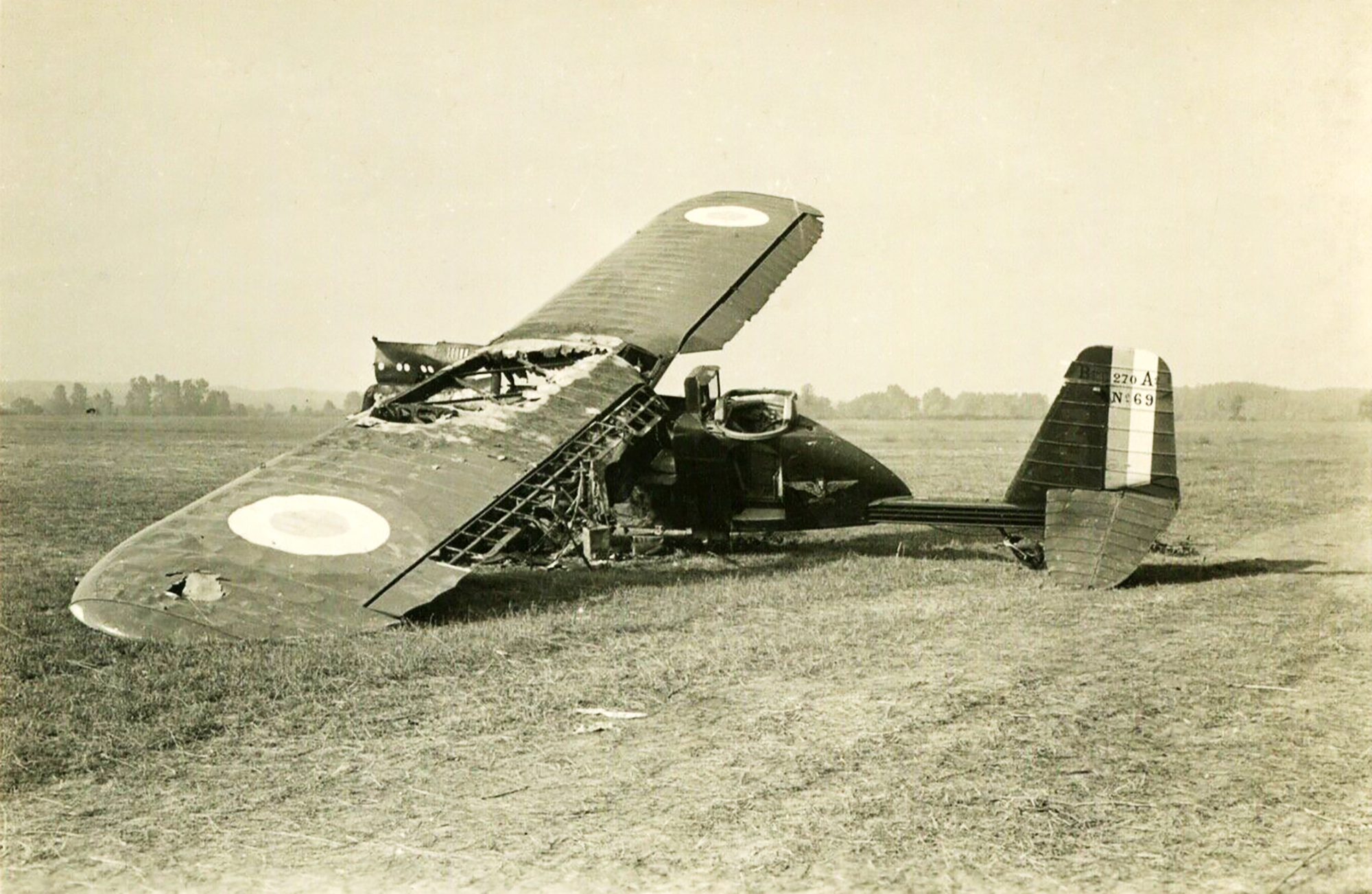 French Airforce Breguet 270 destroyed whilst on the ground battle of France May Jun 1940 ebay 03