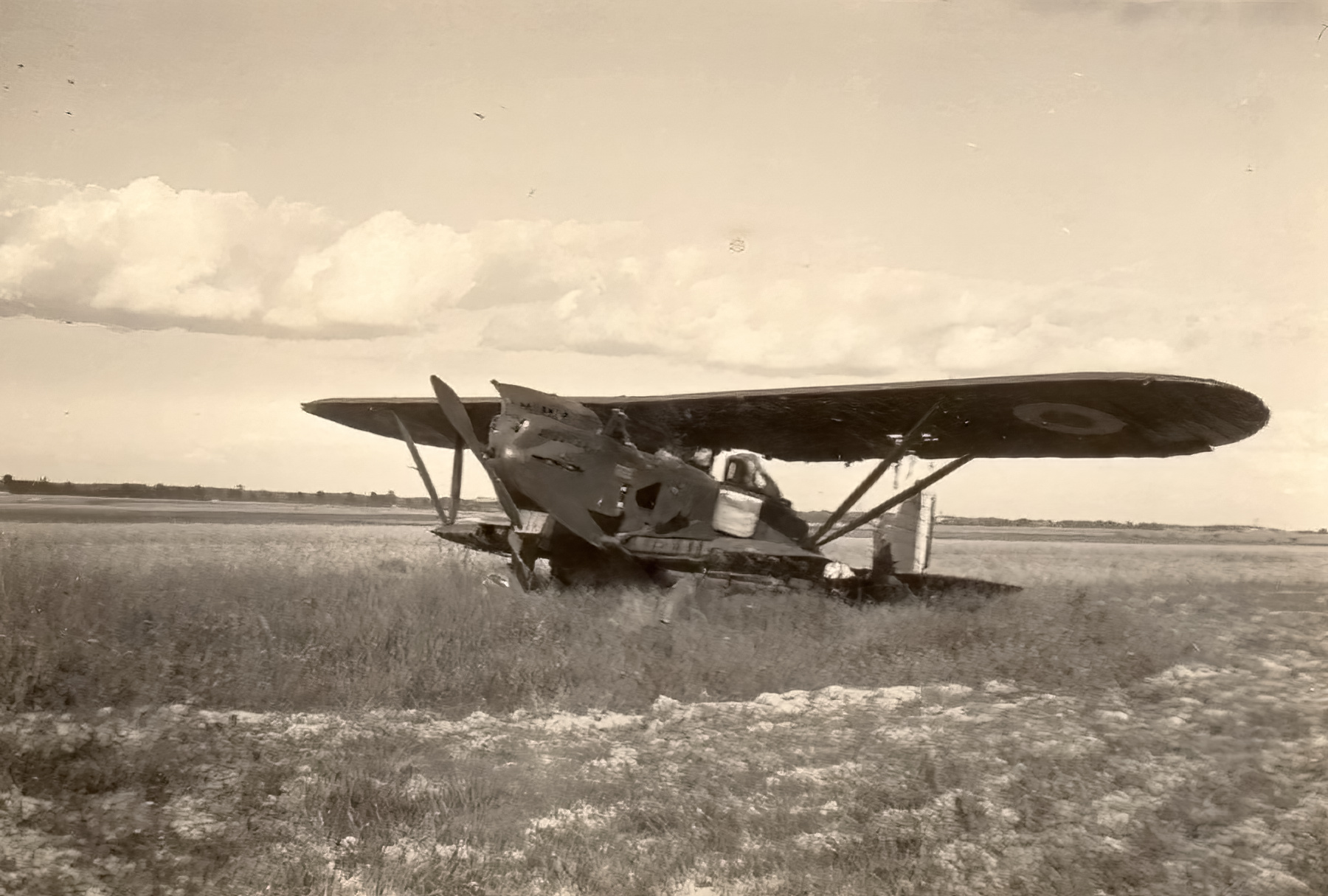 French Airforce Breguet 270 grounded at a French airbase France 1940 ebay 01