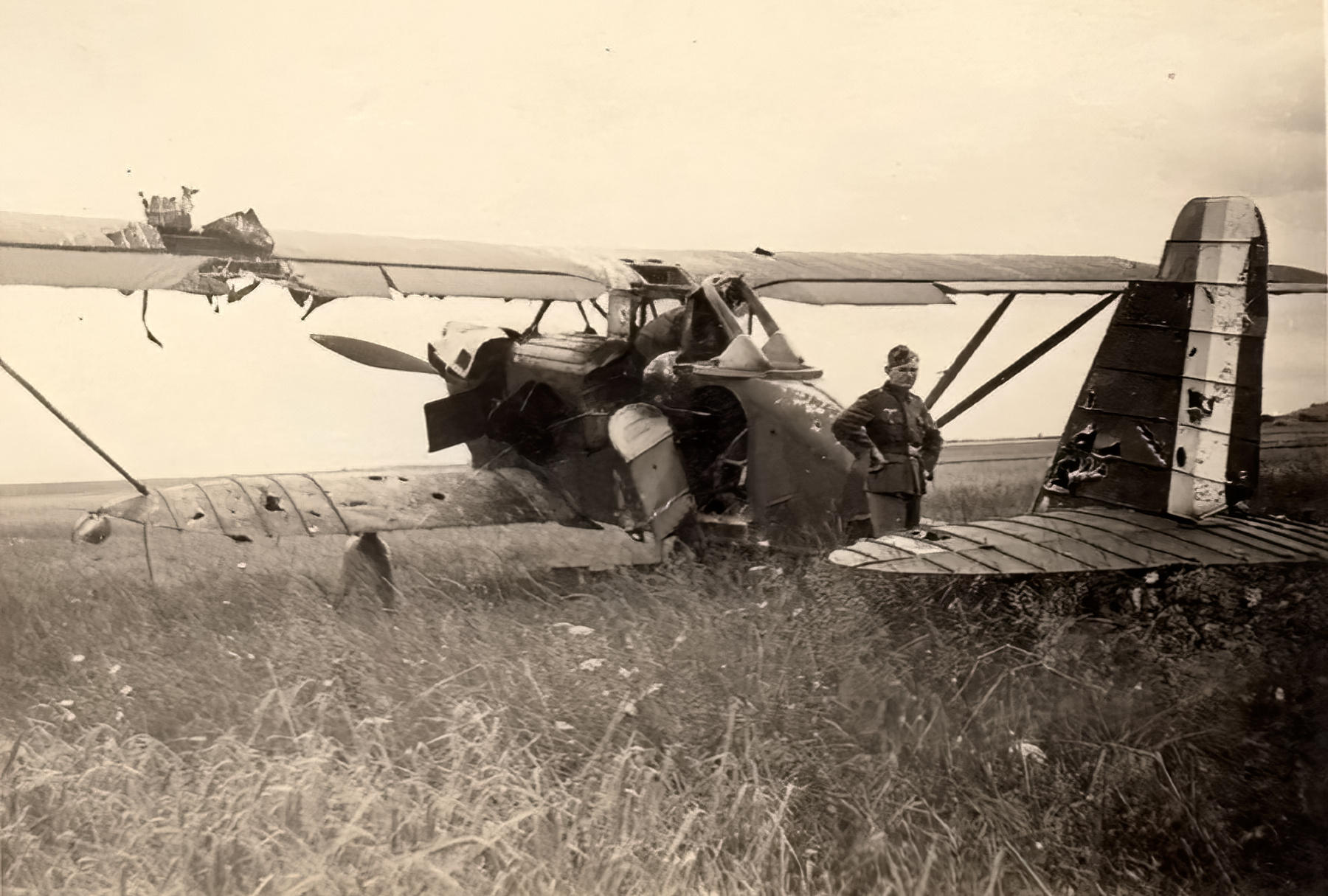 French Airforce Breguet 270 grounded at a French airbase France 1940 ebay 02