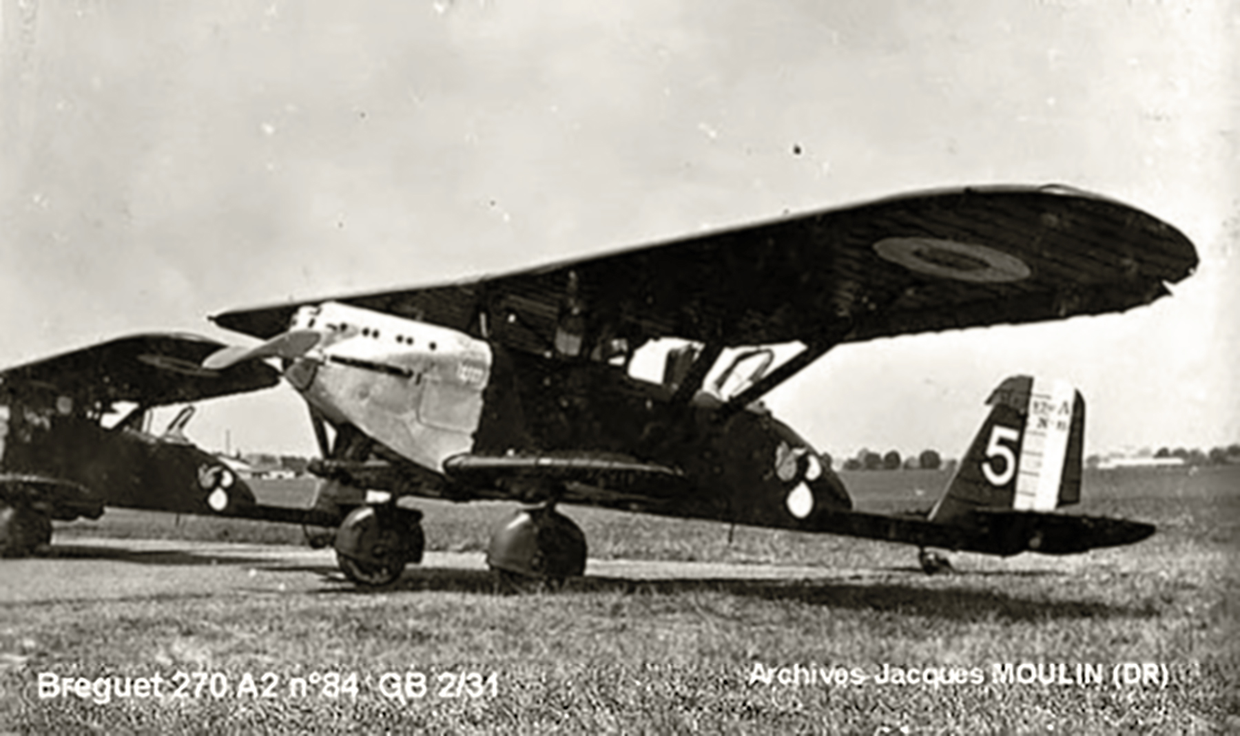 French Airforce Breguet 270A2 GB2.31 White 5 sn84 awaits its next op France 1940 01