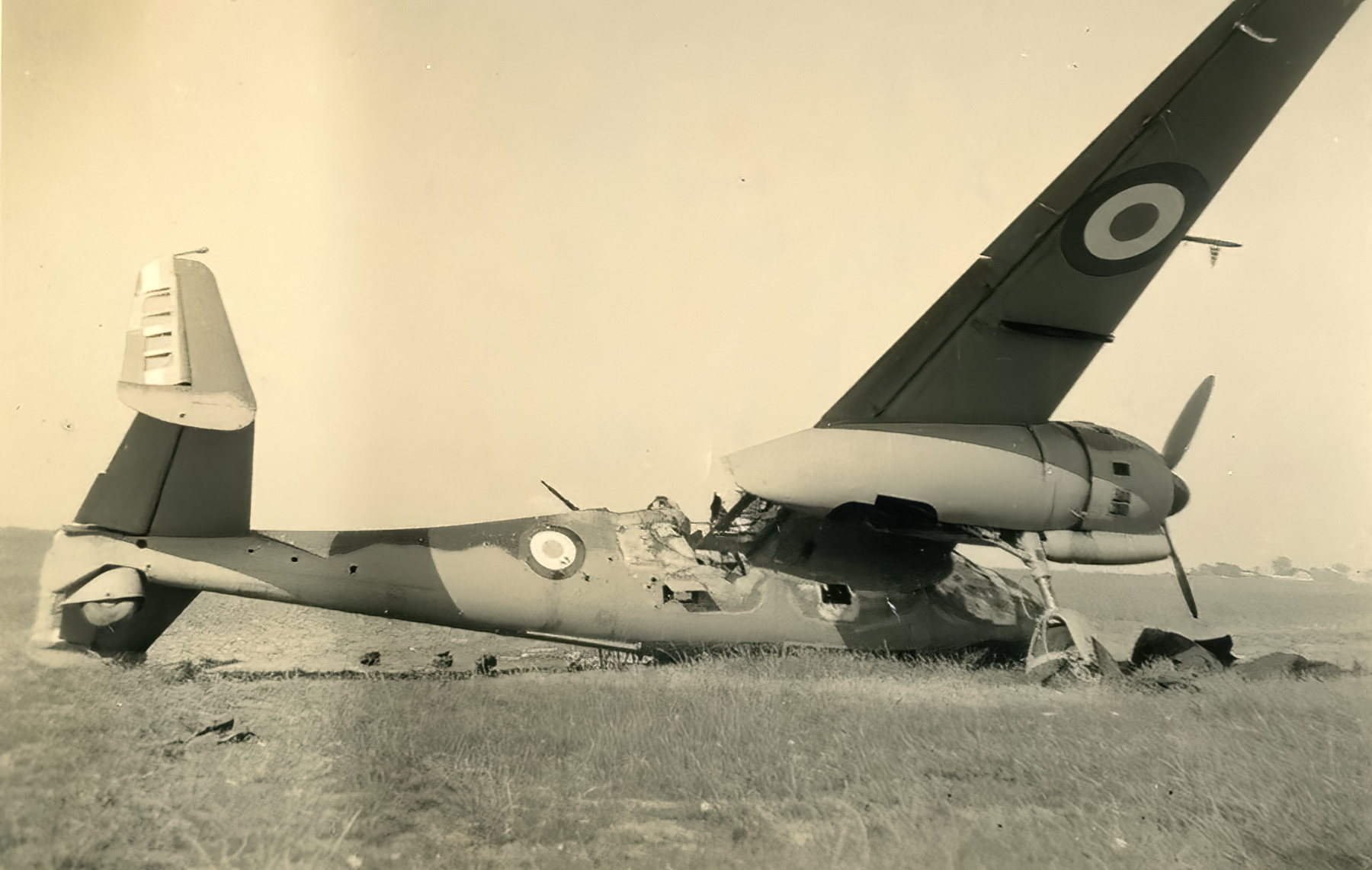 French Airforce Breguet Bre 690 destroyed on the ground battle of France May Jun 1940 ebay 01