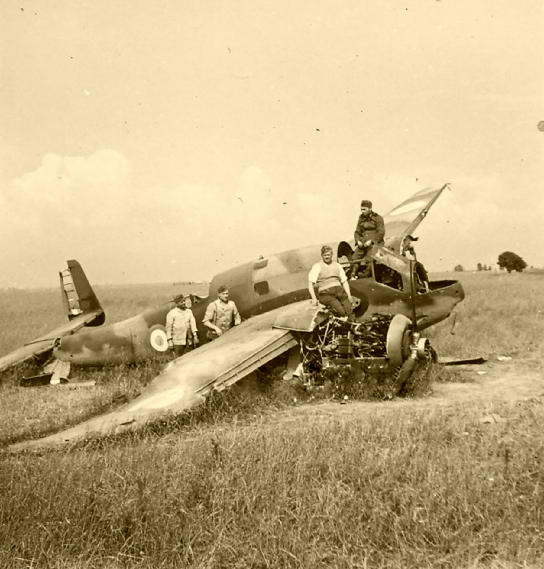 French Airforce Breguet Bre 690 destroyed on the ground battle of France May Jun 1940 ebay 02