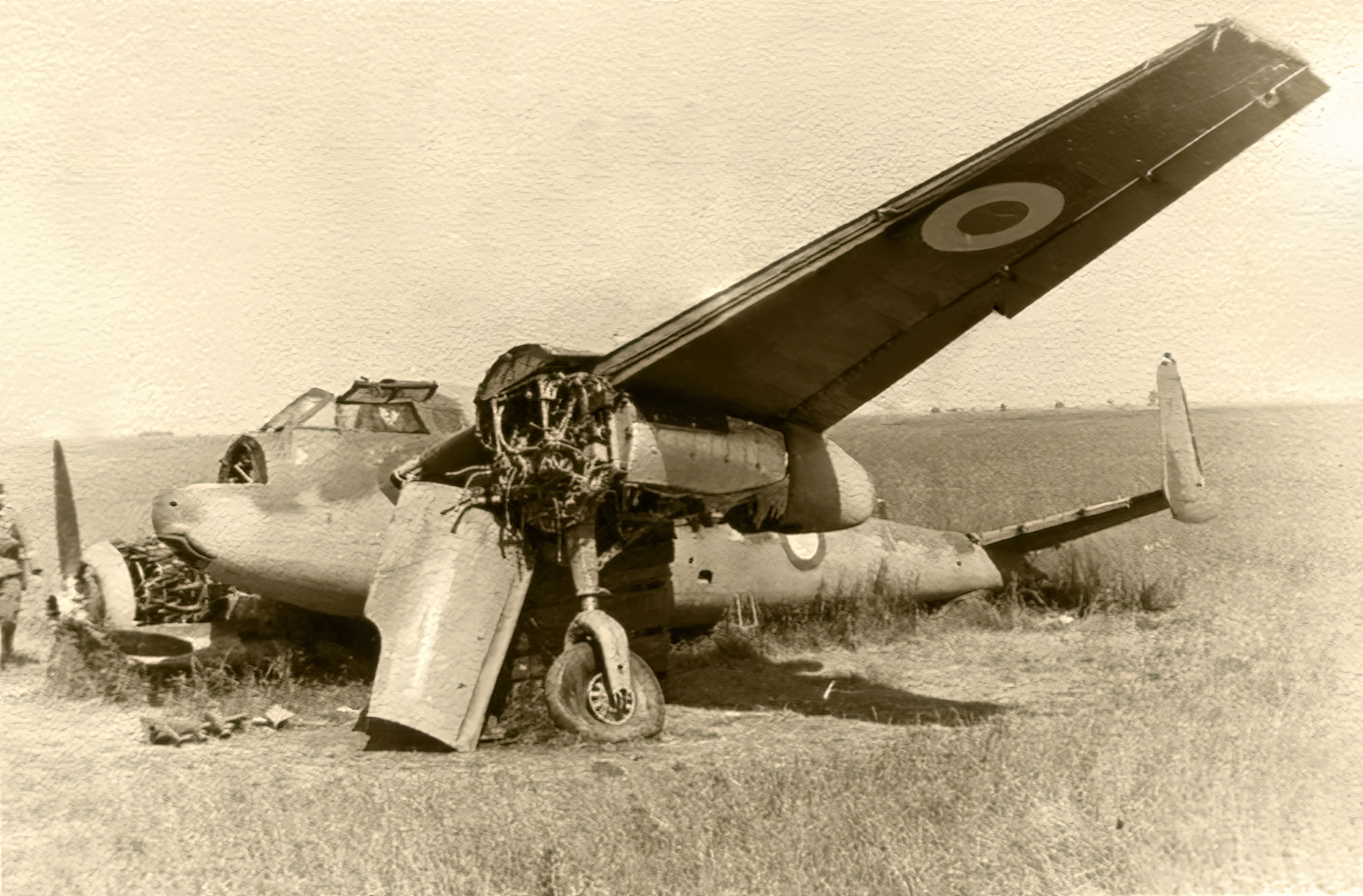 French Airforce Breguet Bre 691 destroyed whilst on the ground battle of France May Jun 1940 ebay 01