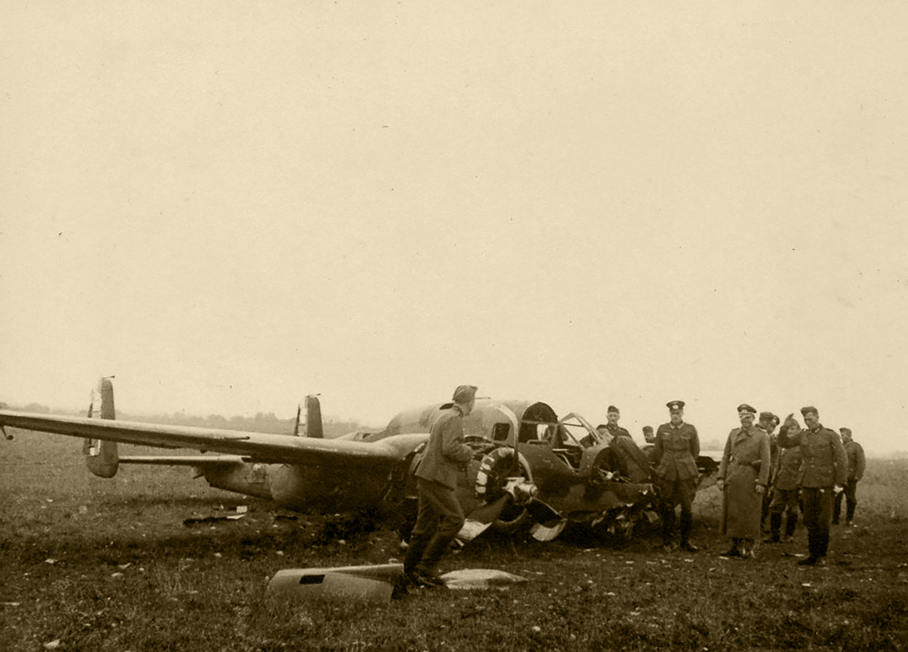 French Airforce Breguet Bre 691 force landed during the air war over France May 1940 ebay 01