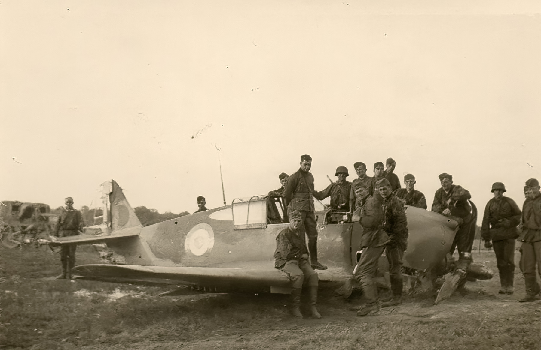 French Airforce Curtiss P 36 Hawk left abandoned after belly landing battle of France 1940 ebay 01