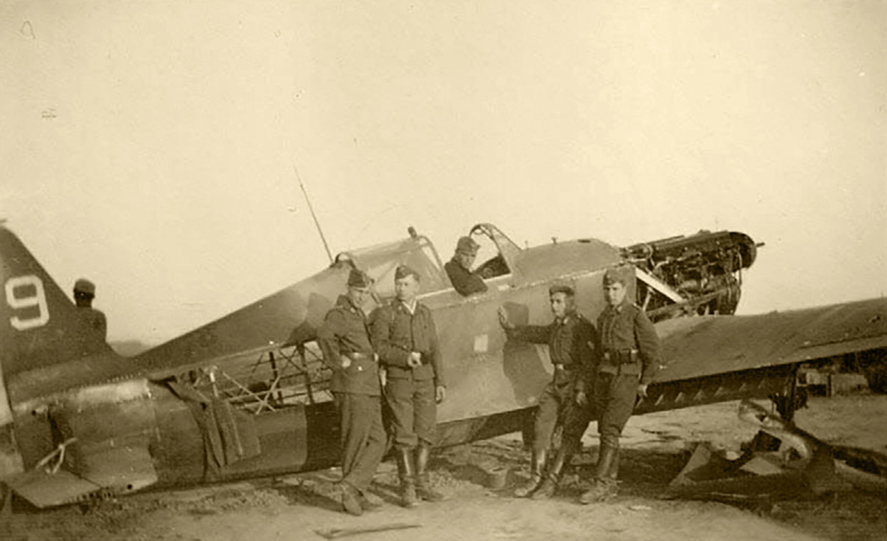 French Airforce Dewoitine D 520 destroyed on the ground battle of France May 1940 ebay 01