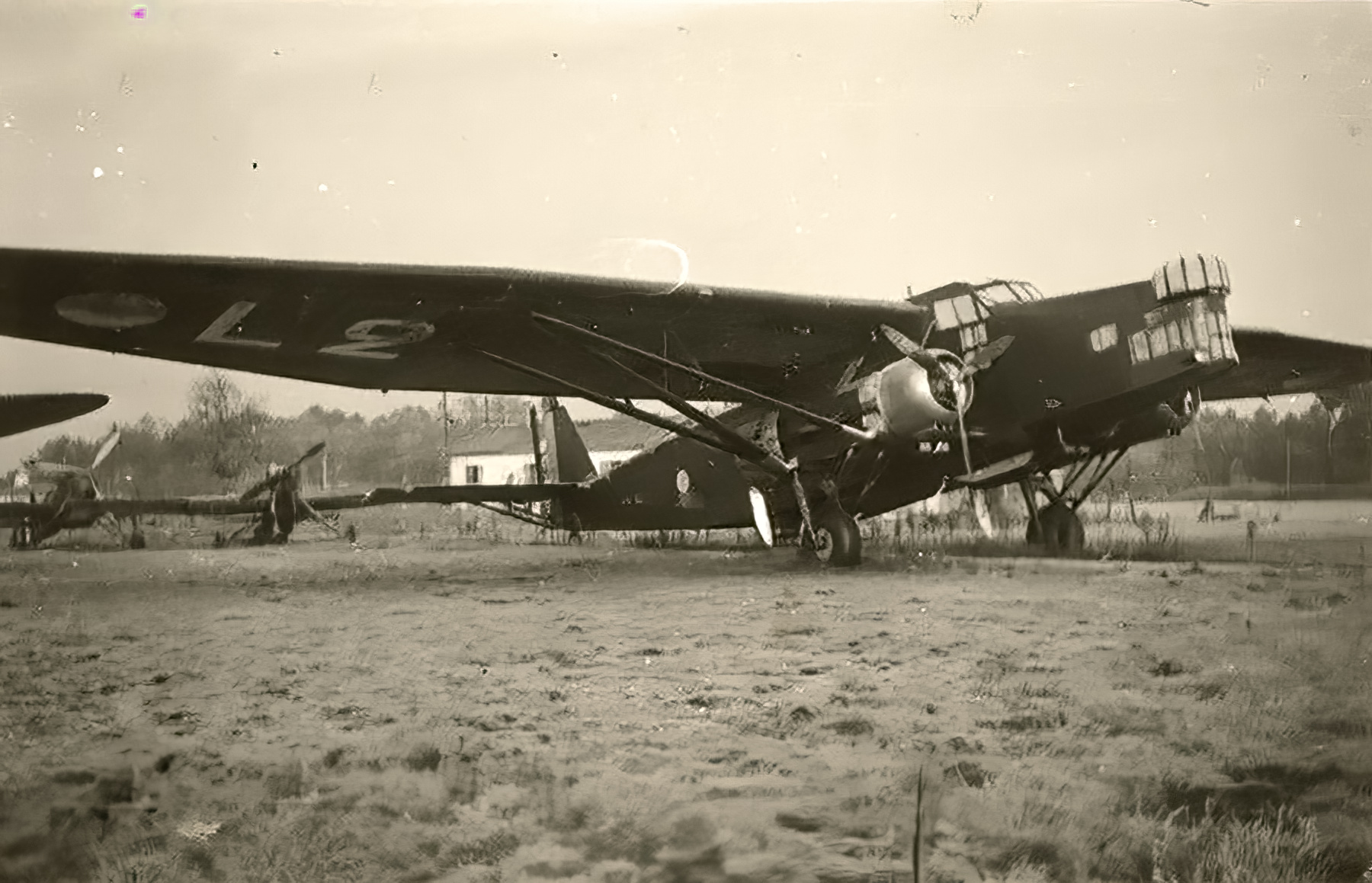 French Airforce Farman F222 abandoned after the fall of France 1940 ebay 01