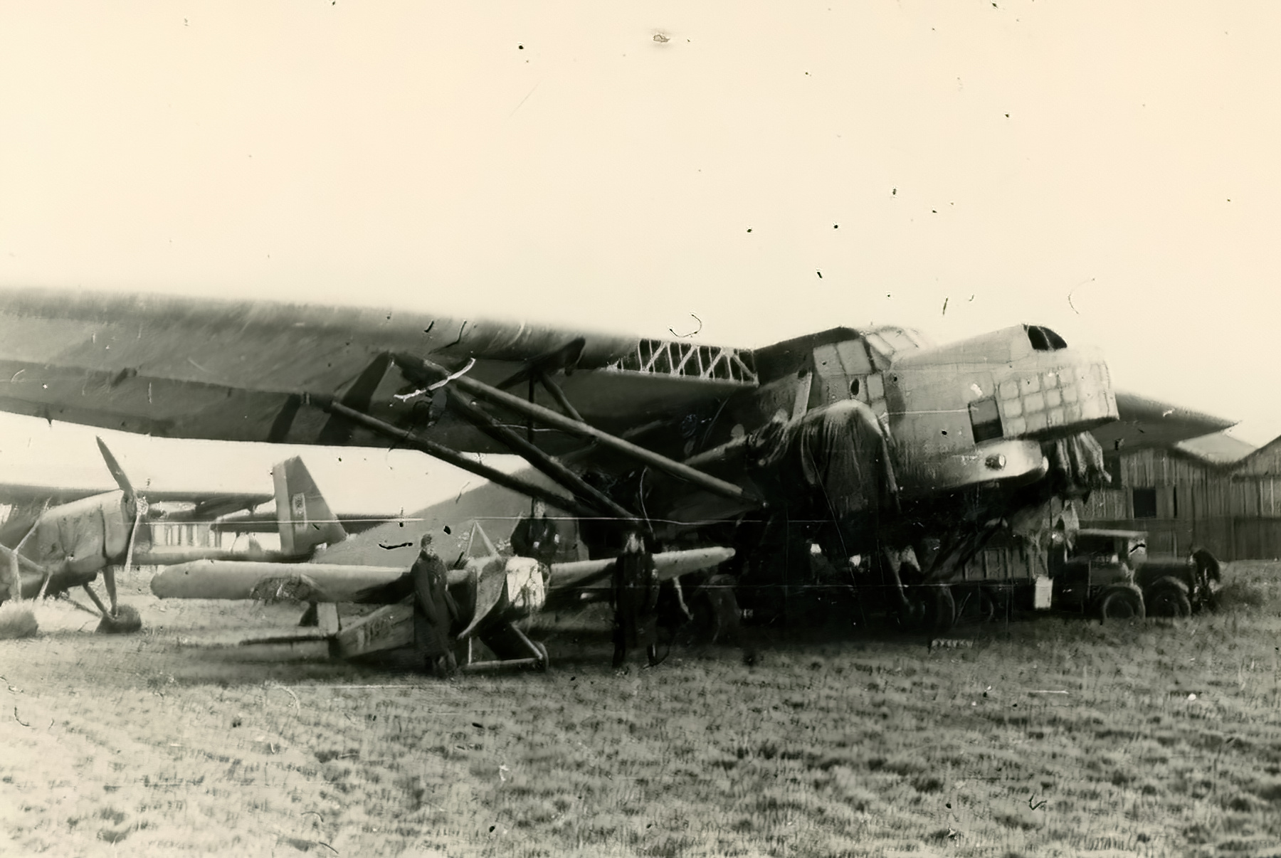 French Airforce Farman F222 destroyed whilst on the ground battle of France May Jun 1940 ebay 01