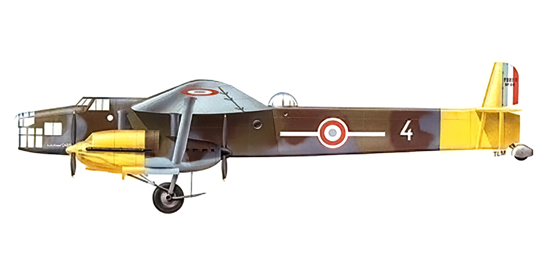 French Airforce Farman NC223 White 4 France 1940 profile 0A