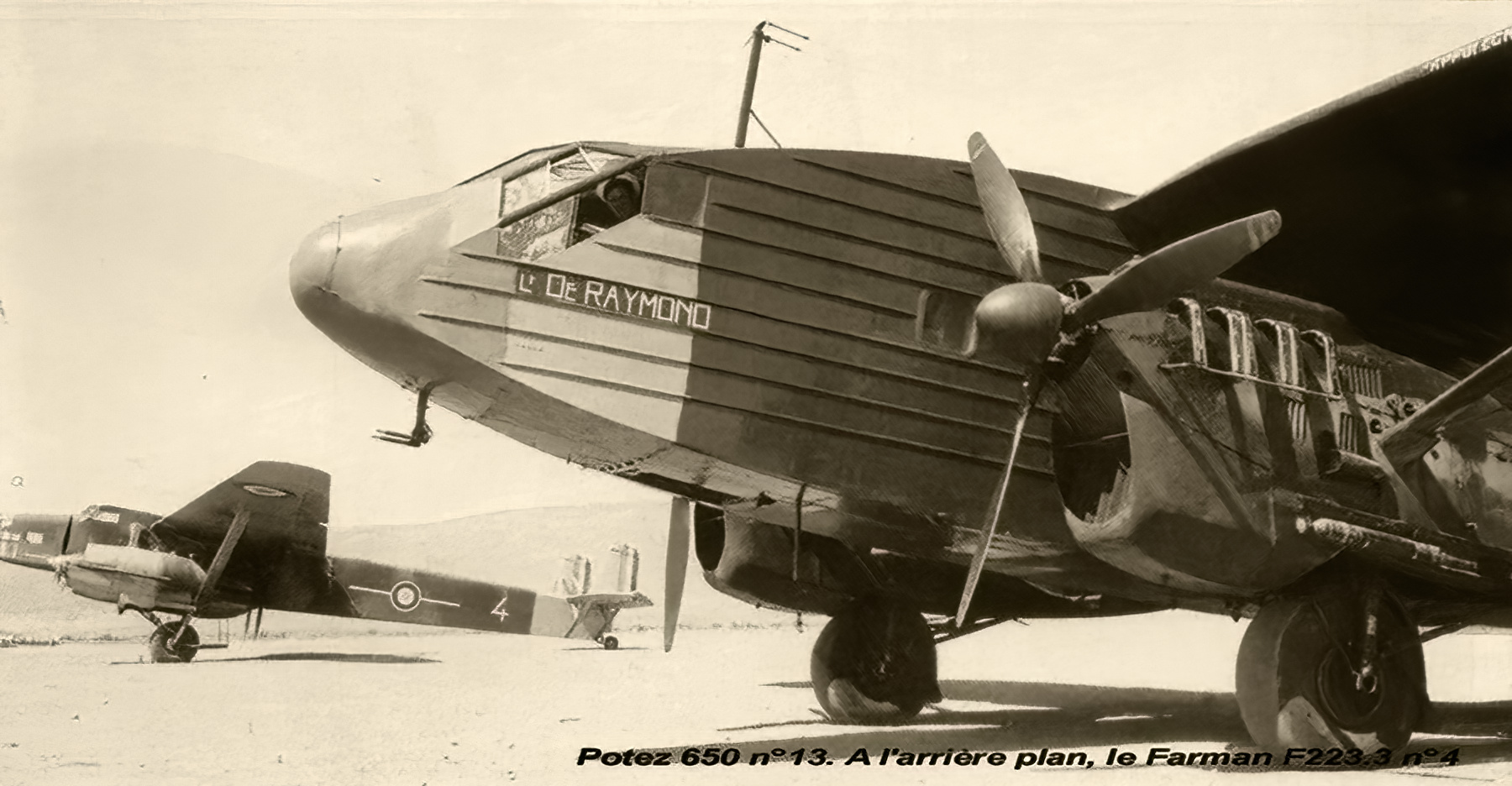 French Airforce Farman NC223 White 4 France with Air France Potez 62 civil airliner wiki 01