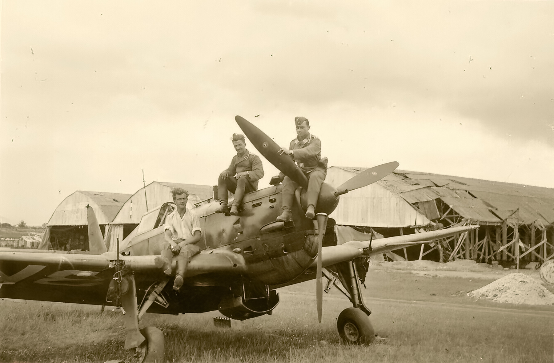 French Airforce Morane Saulnier MS 405 captured intact by German ground forces France May Jun 1940 01