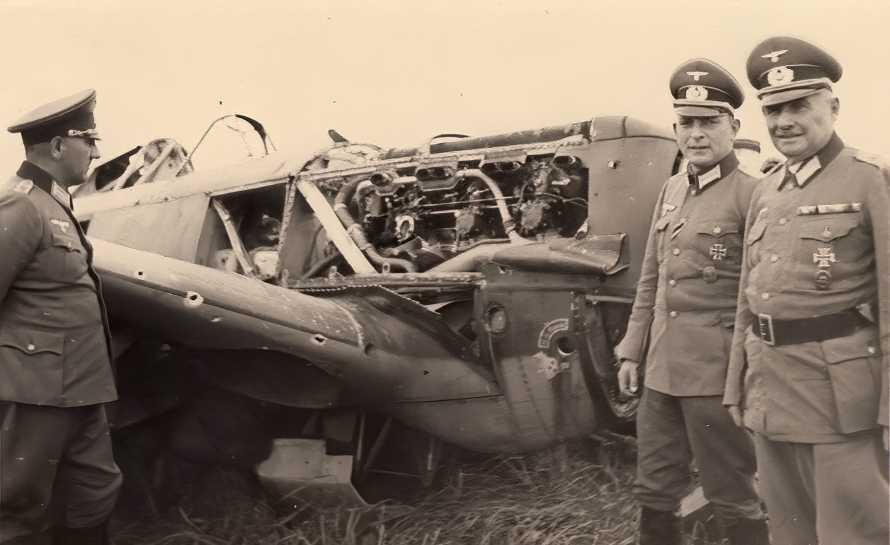 French Airforce Morane Saulnier MS 406 being inspected by German hierarchy France 1940 ebay 01