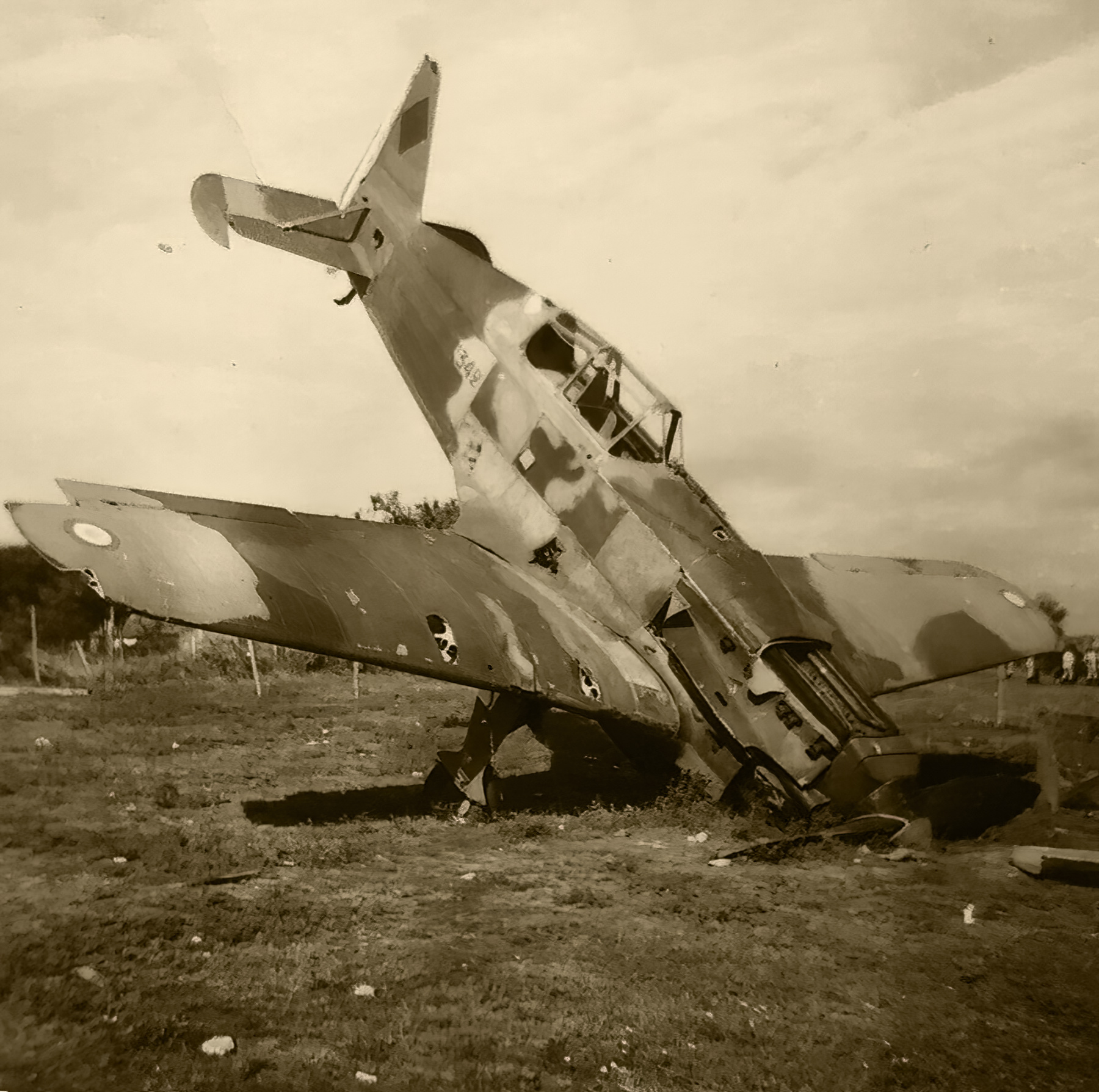 French Airforce Morane Saulnier MS 406 destroyed whilst grounded France May Jun 1940 ebay 01